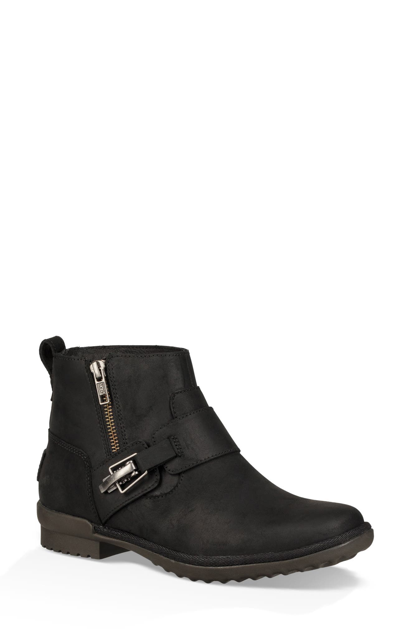 Cheyne Bootie,                             Main thumbnail 1, color,                             BLACK LEATHER