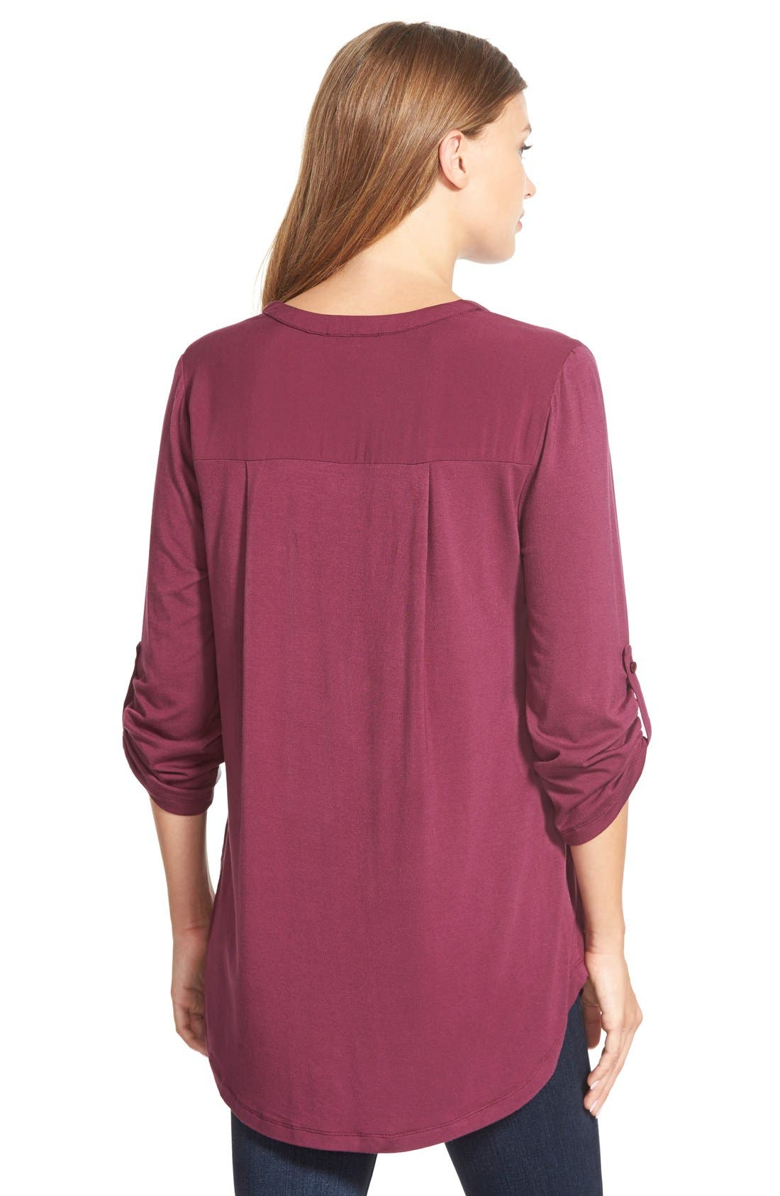 Mixed Media V-Neck Tunic,                             Alternate thumbnail 195, color,