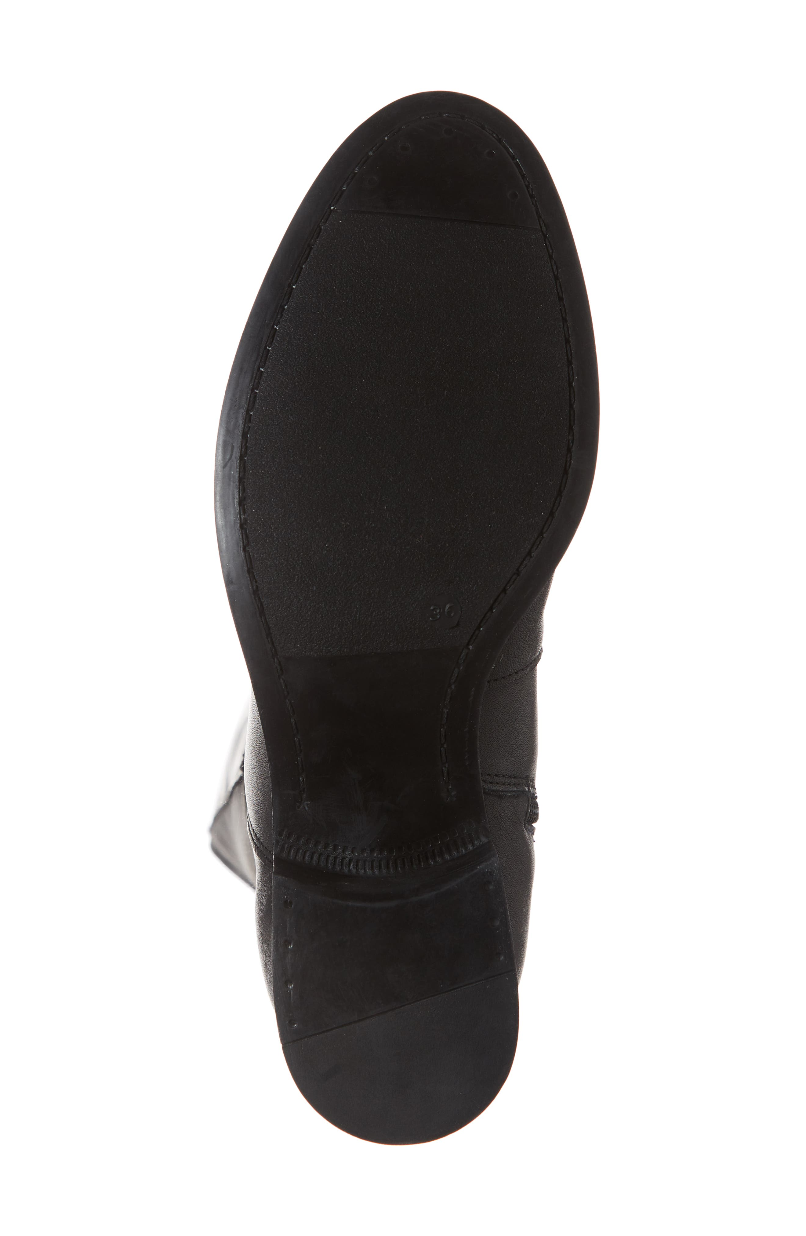 BOS. & CO.,                             Bunt Waterproof Over the Knee Boot,                             Alternate thumbnail 6, color,                             BLACK MELBOURNE/ LYCRA