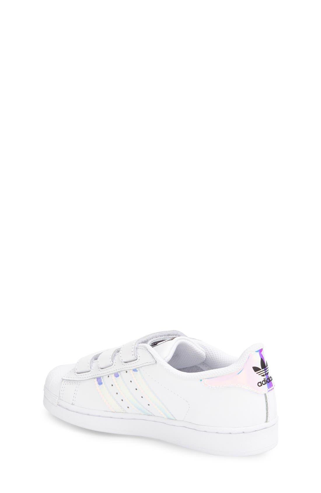 Superstar - Iridescent Sneaker,                             Alternate thumbnail 9, color,                             SILVER METALLIC/ WHITE