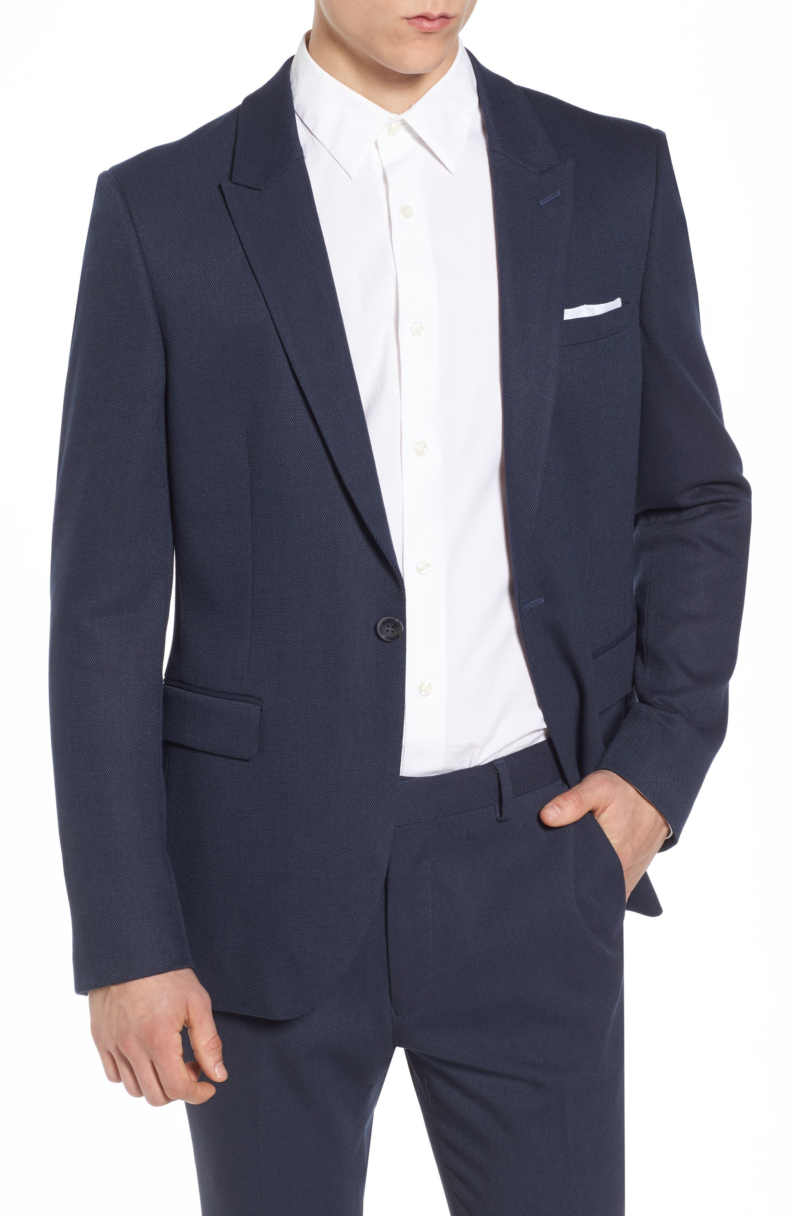 Como Skinny Fit Blazer,                         Main,                         color, 420