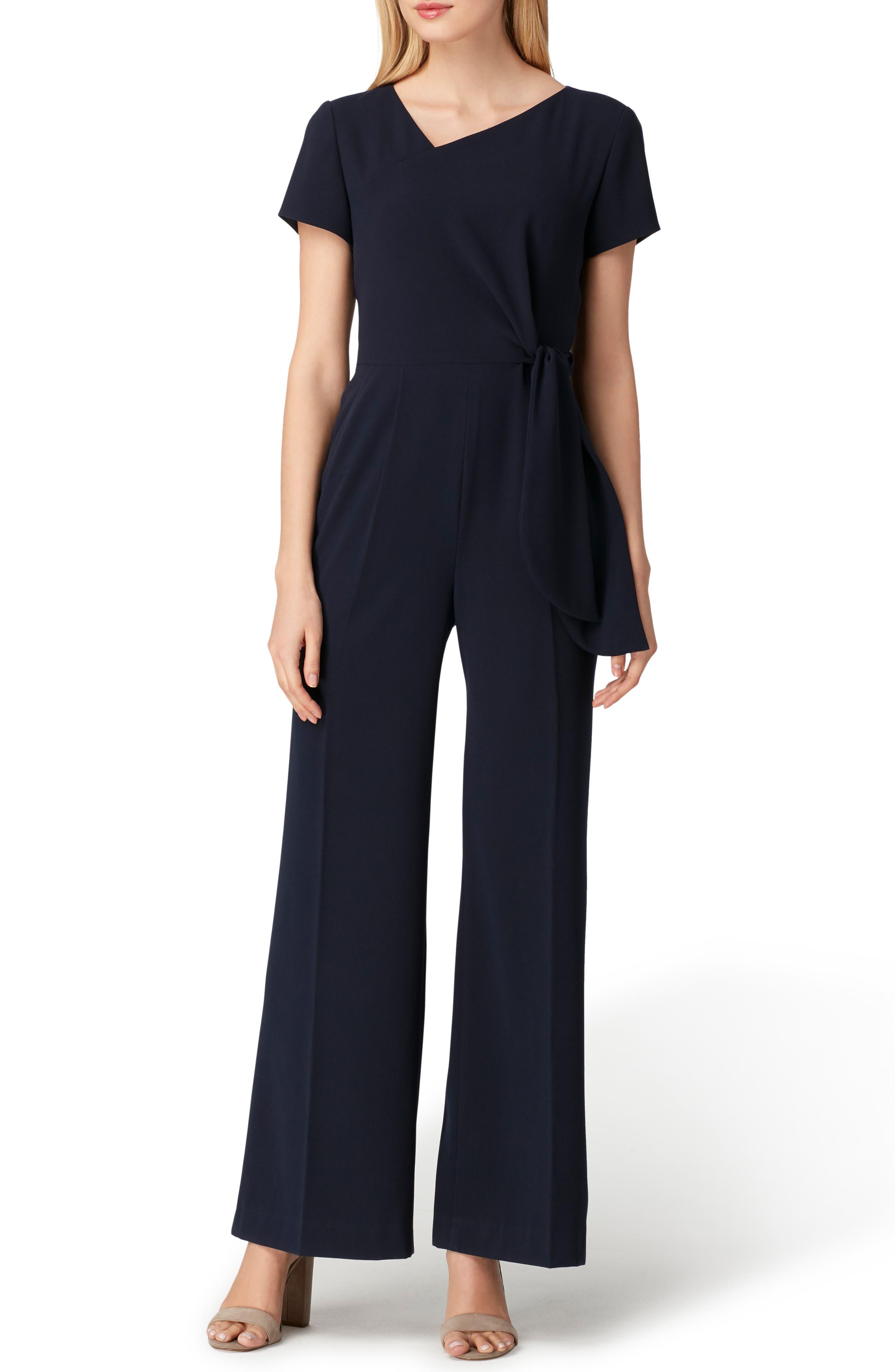 Tie Waist Crepe Jumpsuit,                         Main,                         color, 412