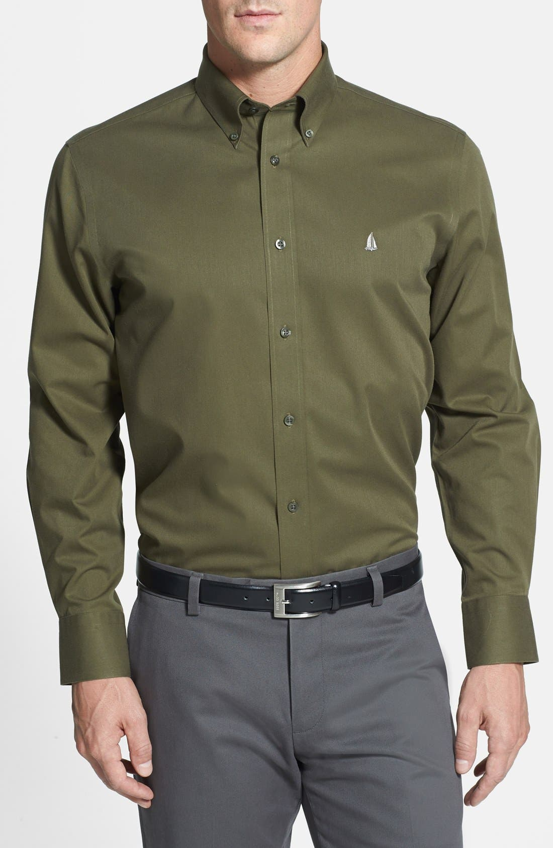 Smartcare<sup>™</sup> Traditional Fit Twill Boat Shirt,                             Main thumbnail 17, color,