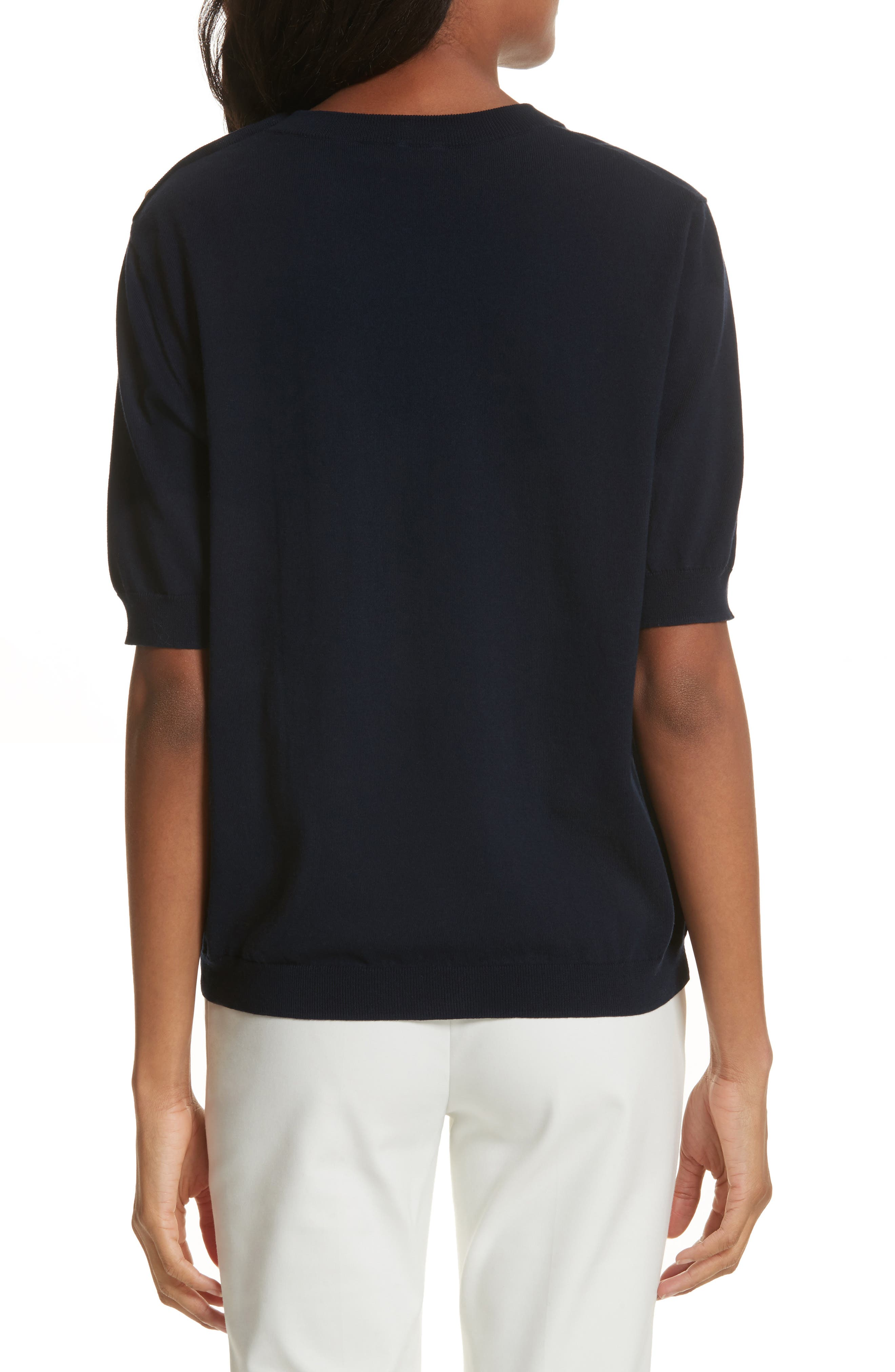 Preston Cotton Sweater,                             Alternate thumbnail 4, color,