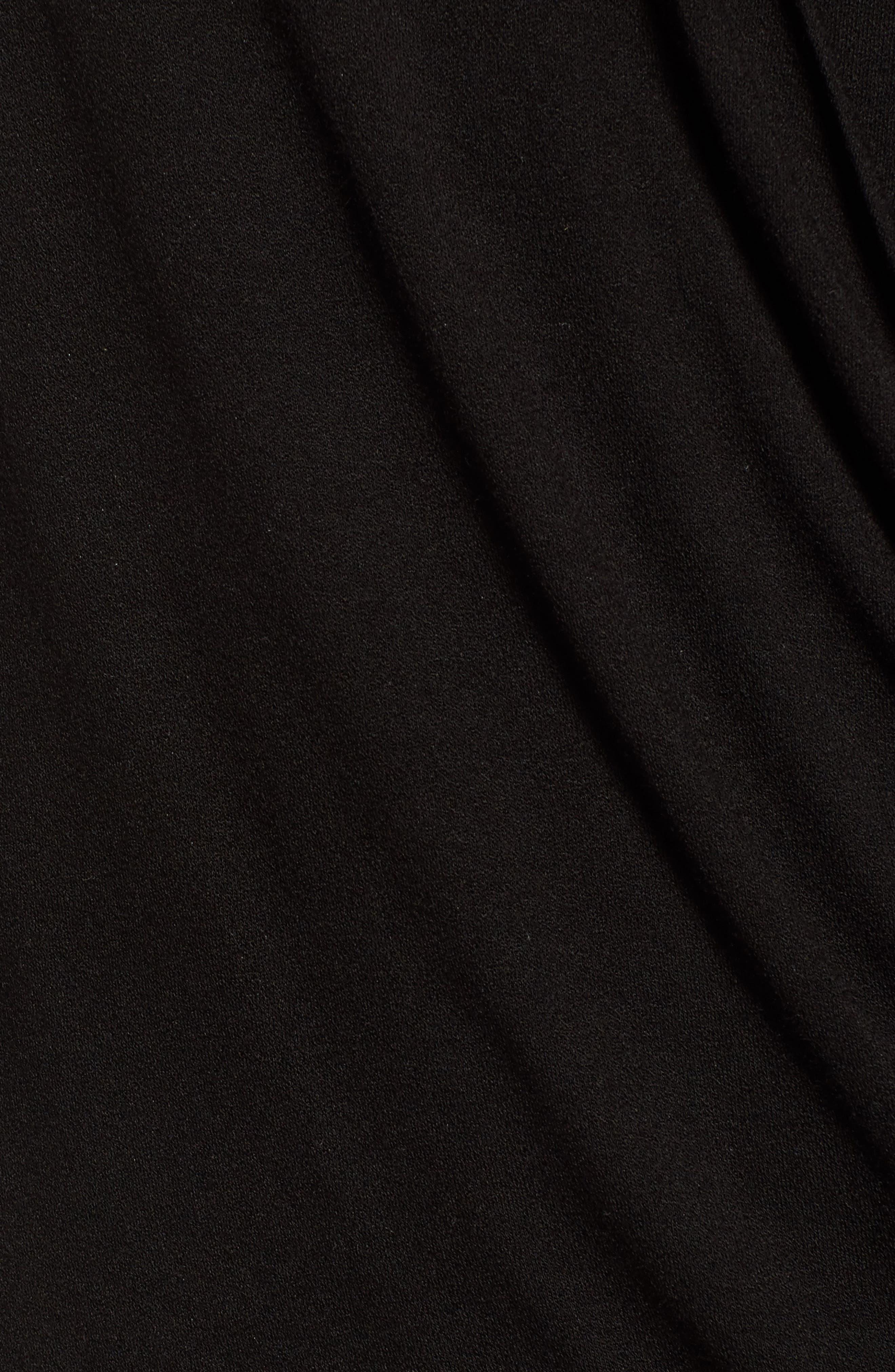 Faux Wrap Knit Top,                             Alternate thumbnail 6, color,                             BLACK