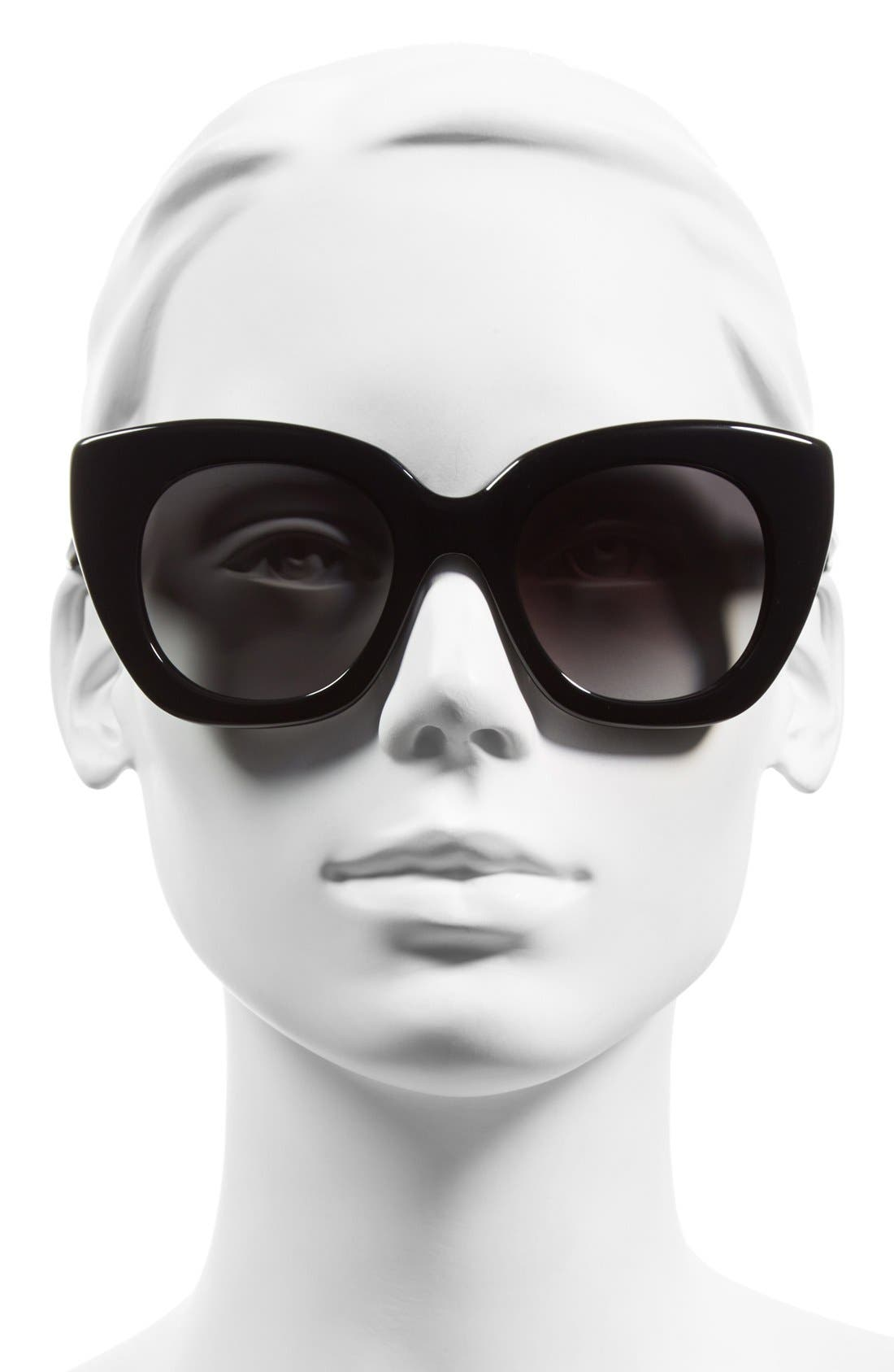 'narelle' 51mm retro sunglasses,                             Alternate thumbnail 2, color,                             001