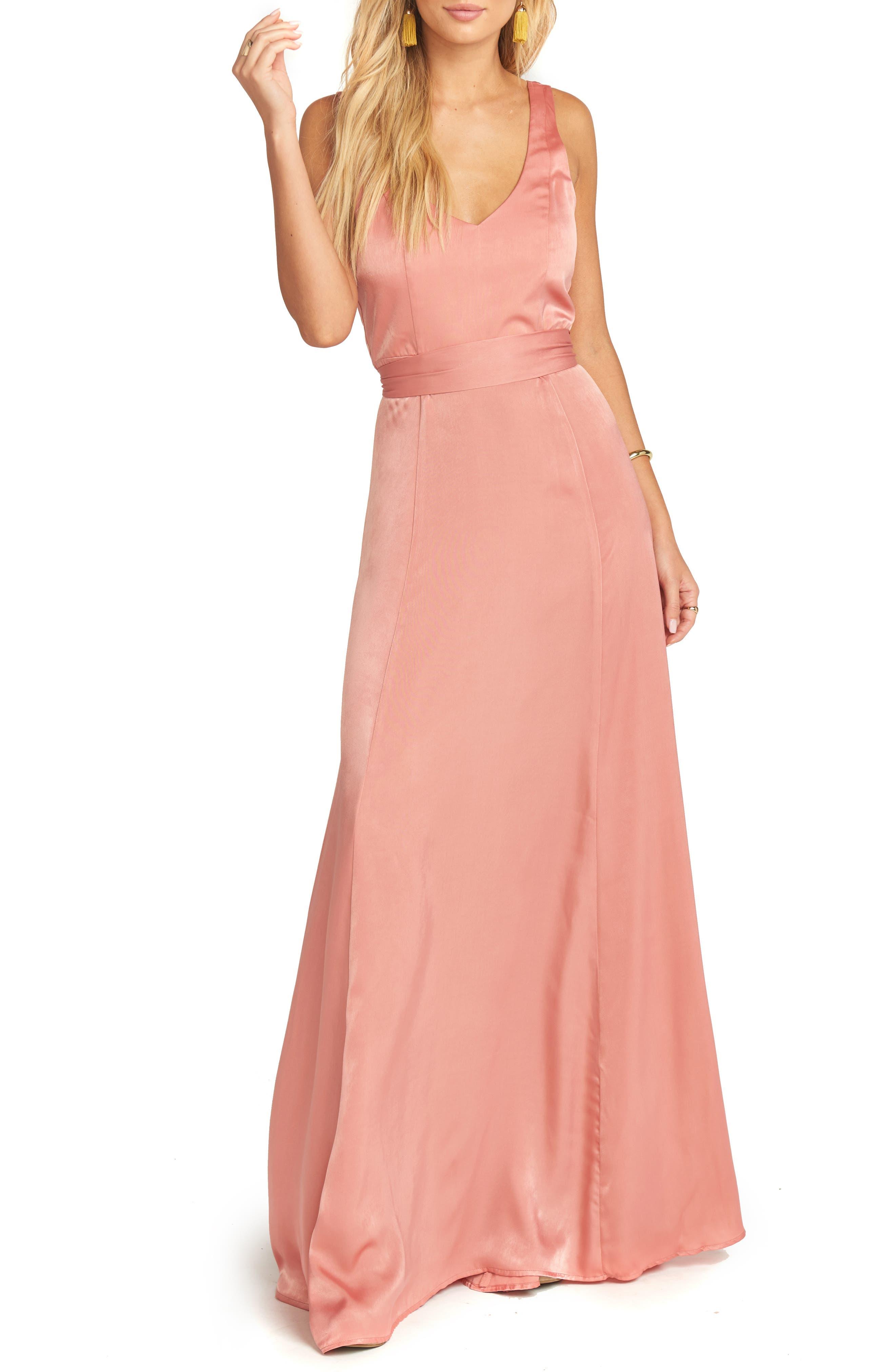 Jen Maxi Gown,                         Main,                         color, RUSTIC MAUVE SHEEN
