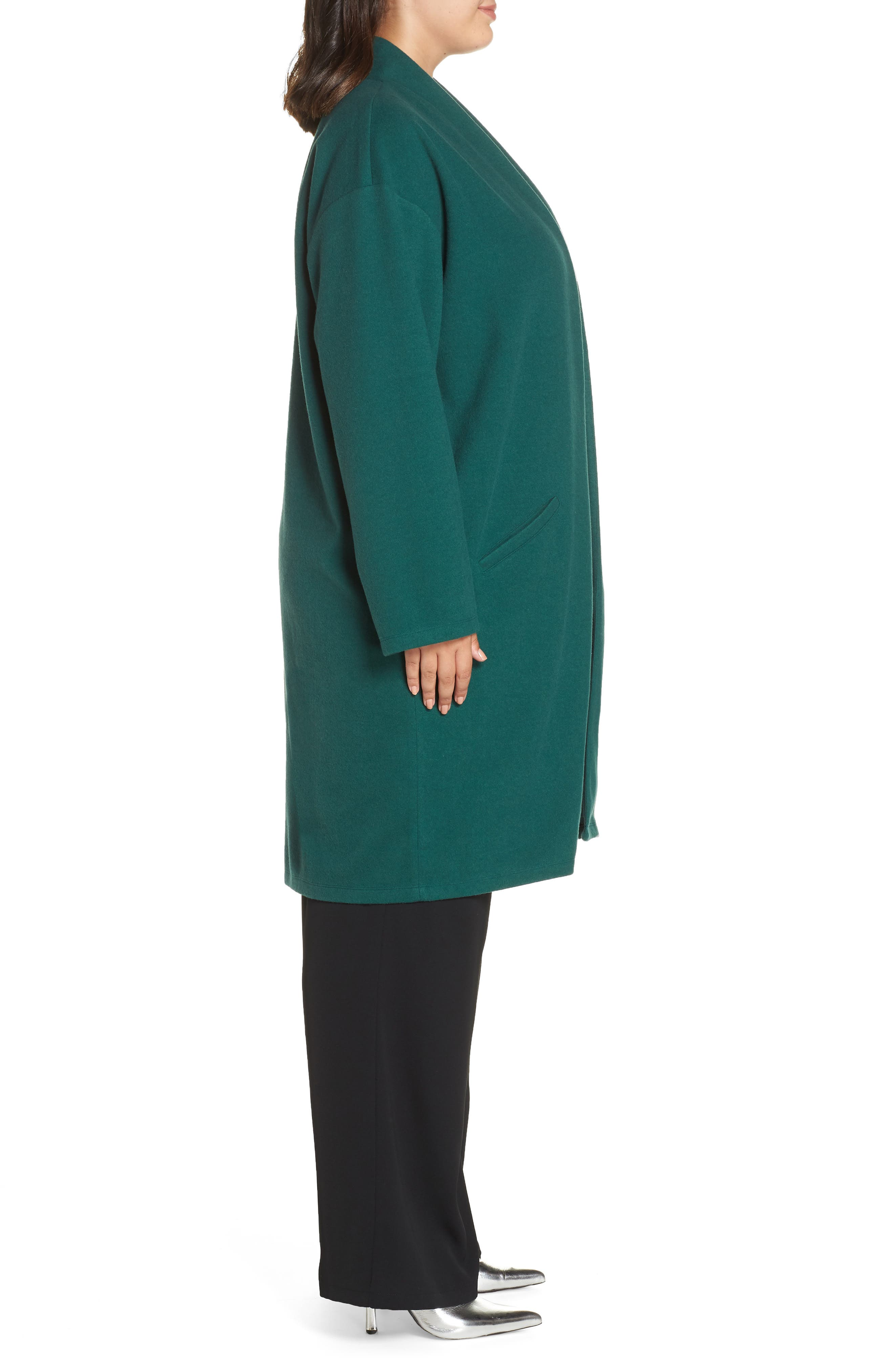 Open Front Midi Coat,                             Alternate thumbnail 3, color,                             301