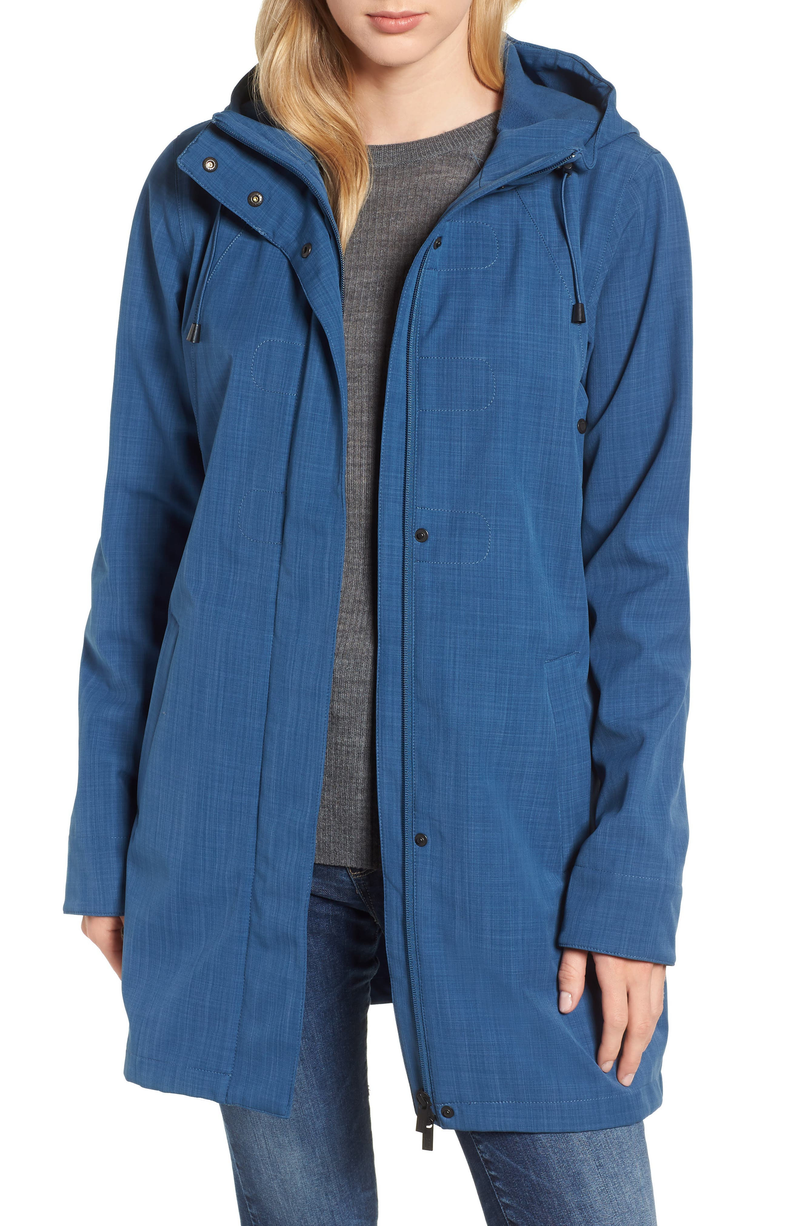 Hooded Raincoat,                         Main,                         color, 400