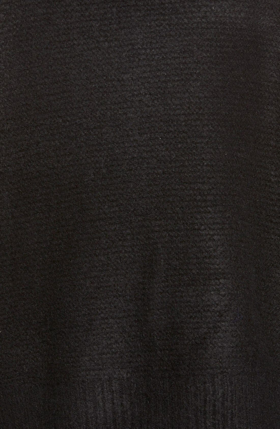 Boxy Turtleneck Sweater,                             Alternate thumbnail 4, color,                             001
