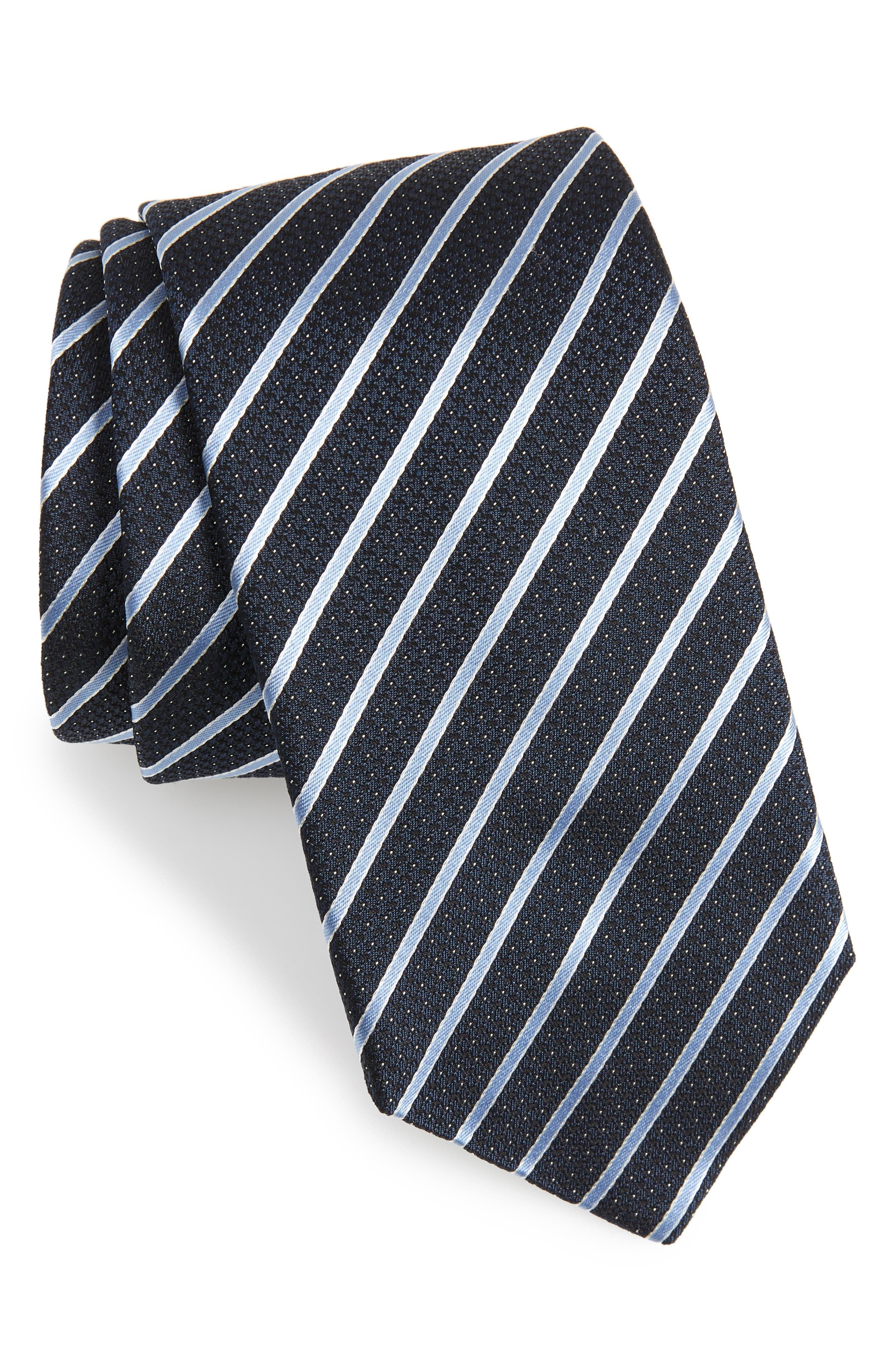 Stripe Silk Tie,                         Main,                         color, 410