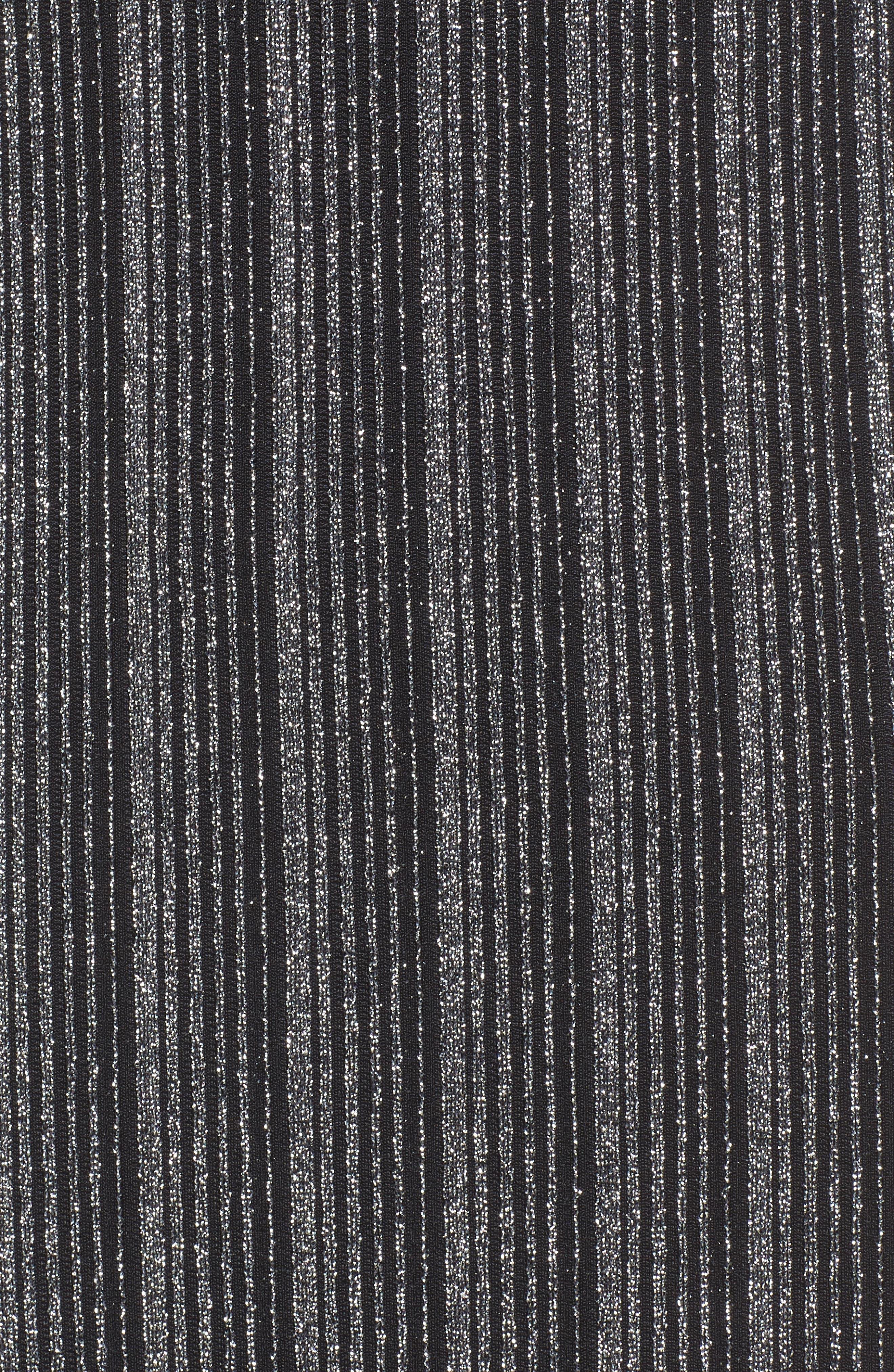 Metallic Ribbed Midi Dress,                             Alternate thumbnail 5, color,