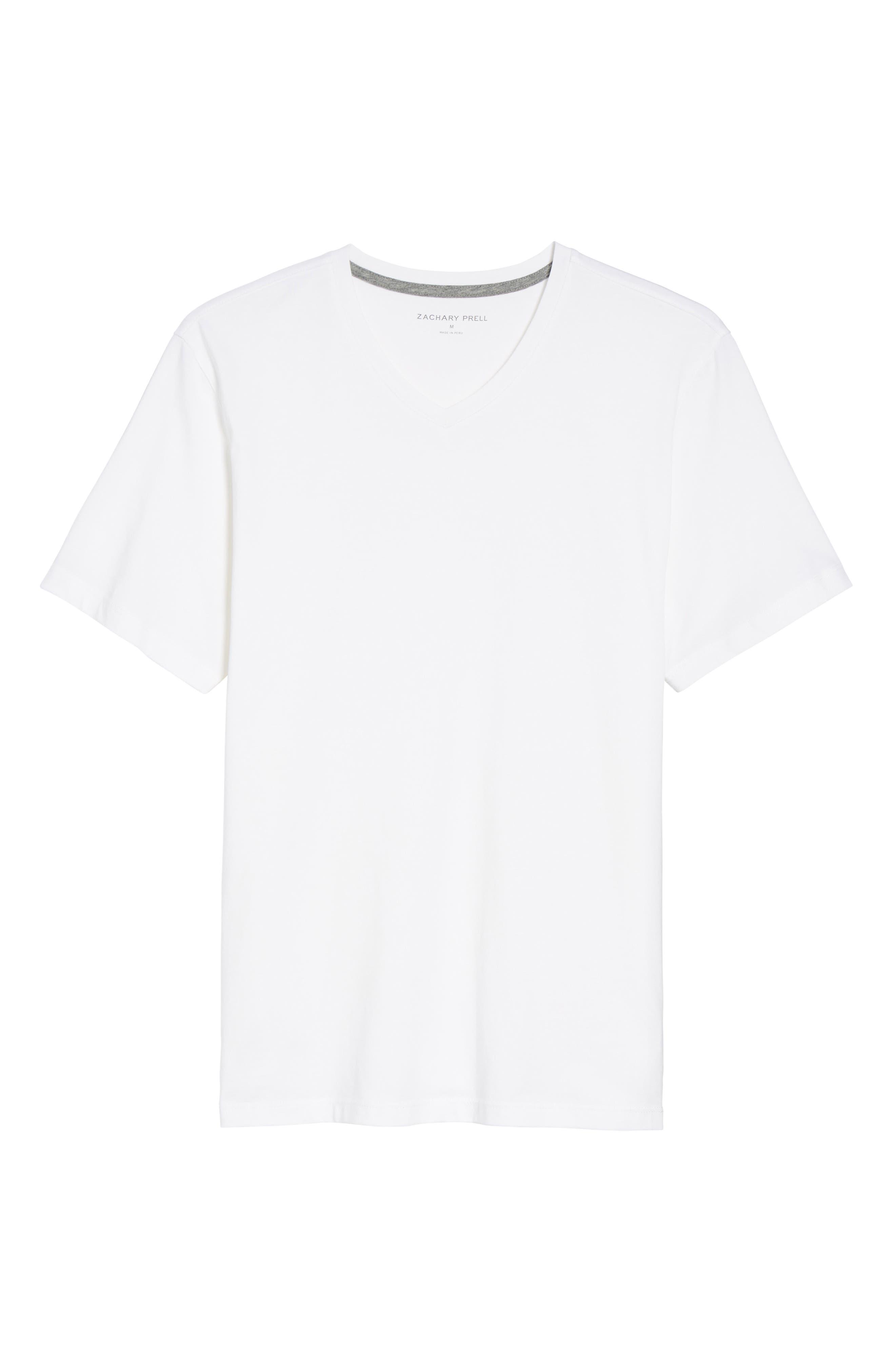Mercer V-Neck T-Shirt,                             Alternate thumbnail 6, color,                             WHITE