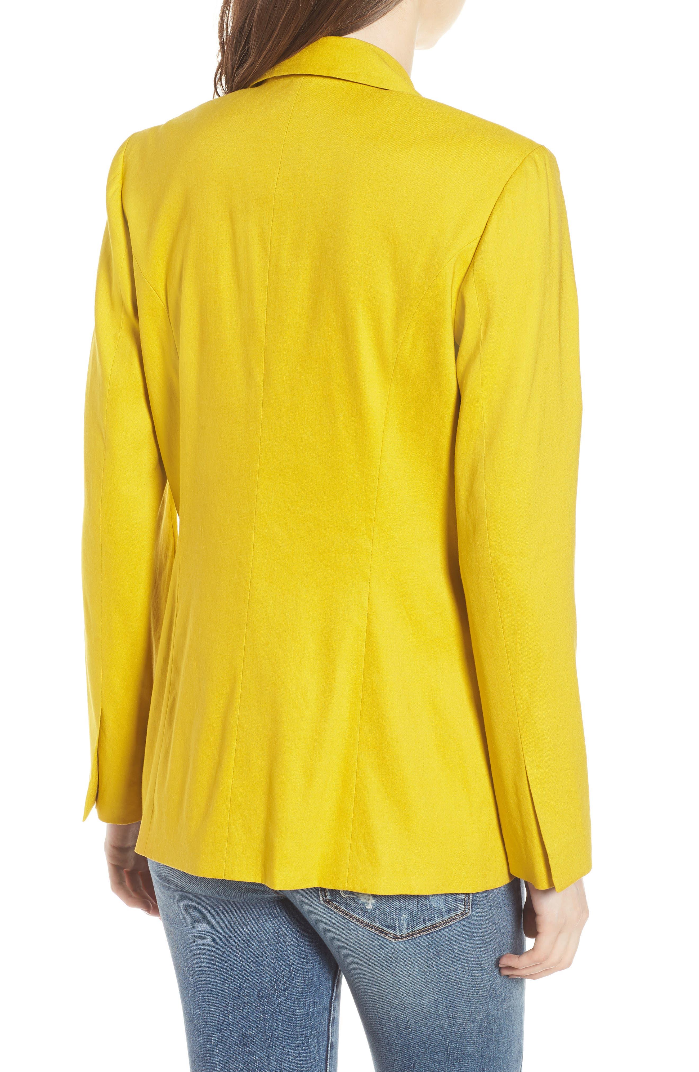 Double Breasted Linen Blend Blazer,                             Alternate thumbnail 10, color,
