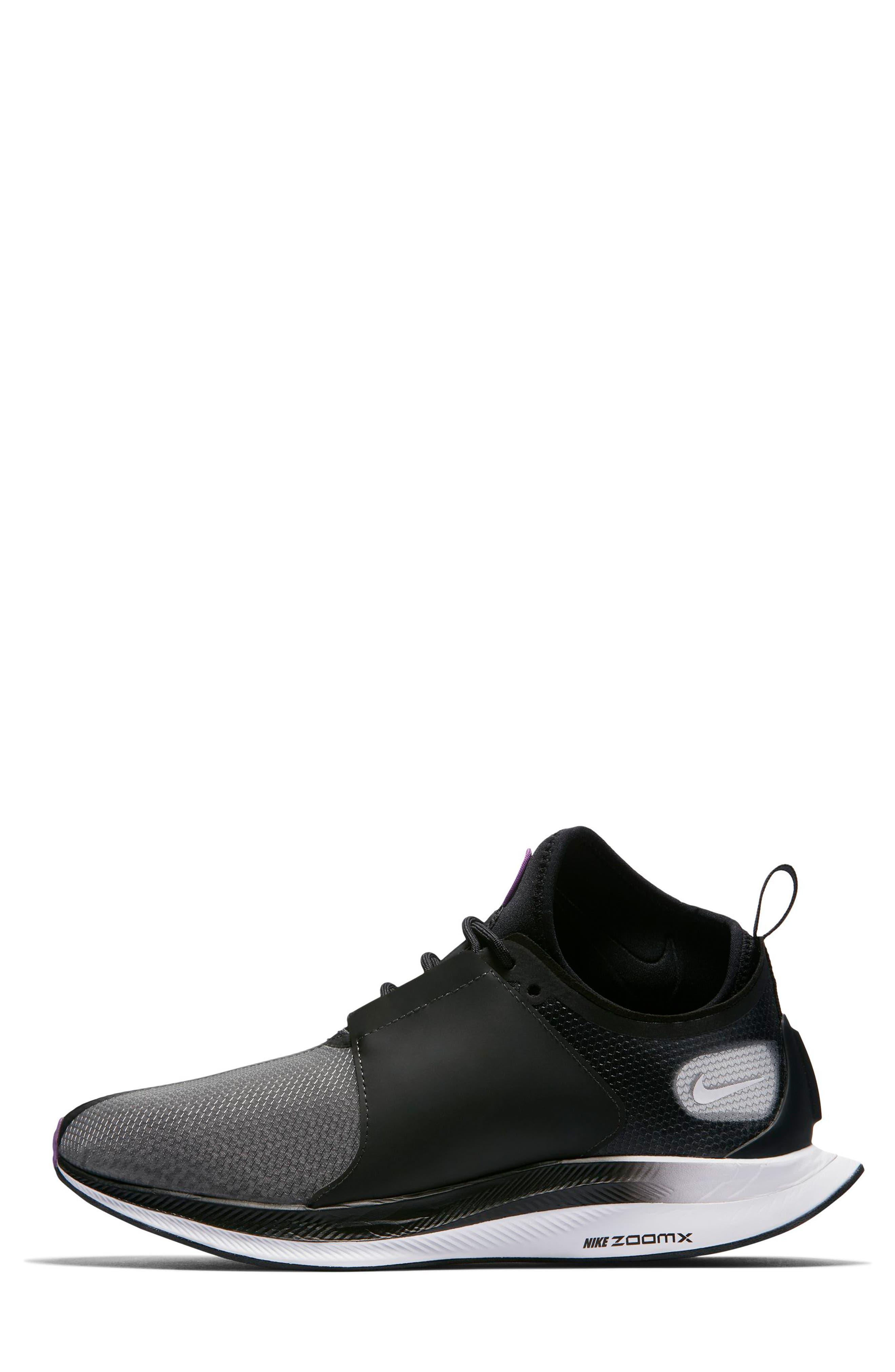 Zoom Pegasus Turbo XX Running Shoe,                             Alternate thumbnail 3, color,                             BLACK/ BLACK/ WHITE