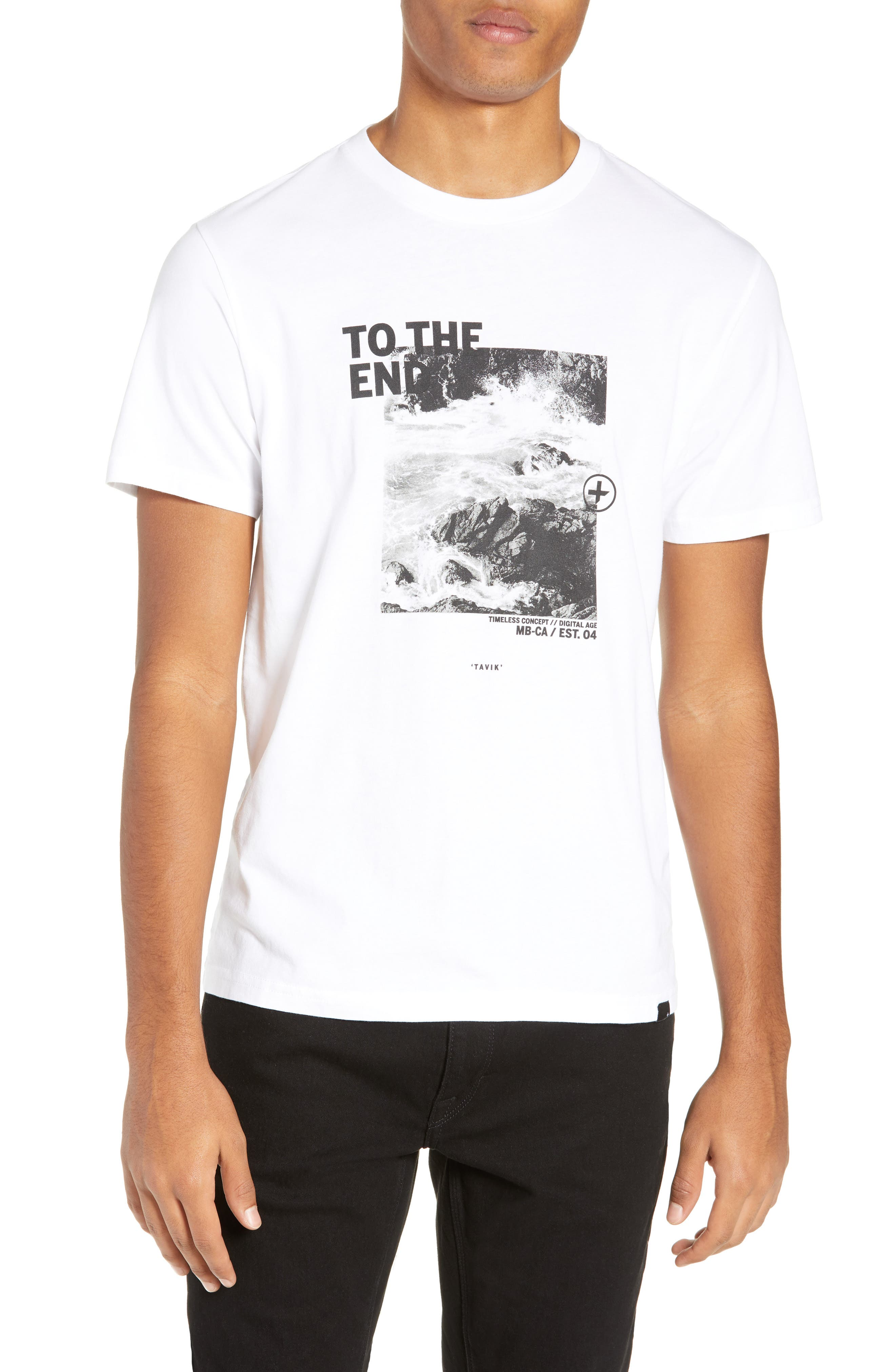 Clashing Graphic T-Shirt,                         Main,                         color, WHITE