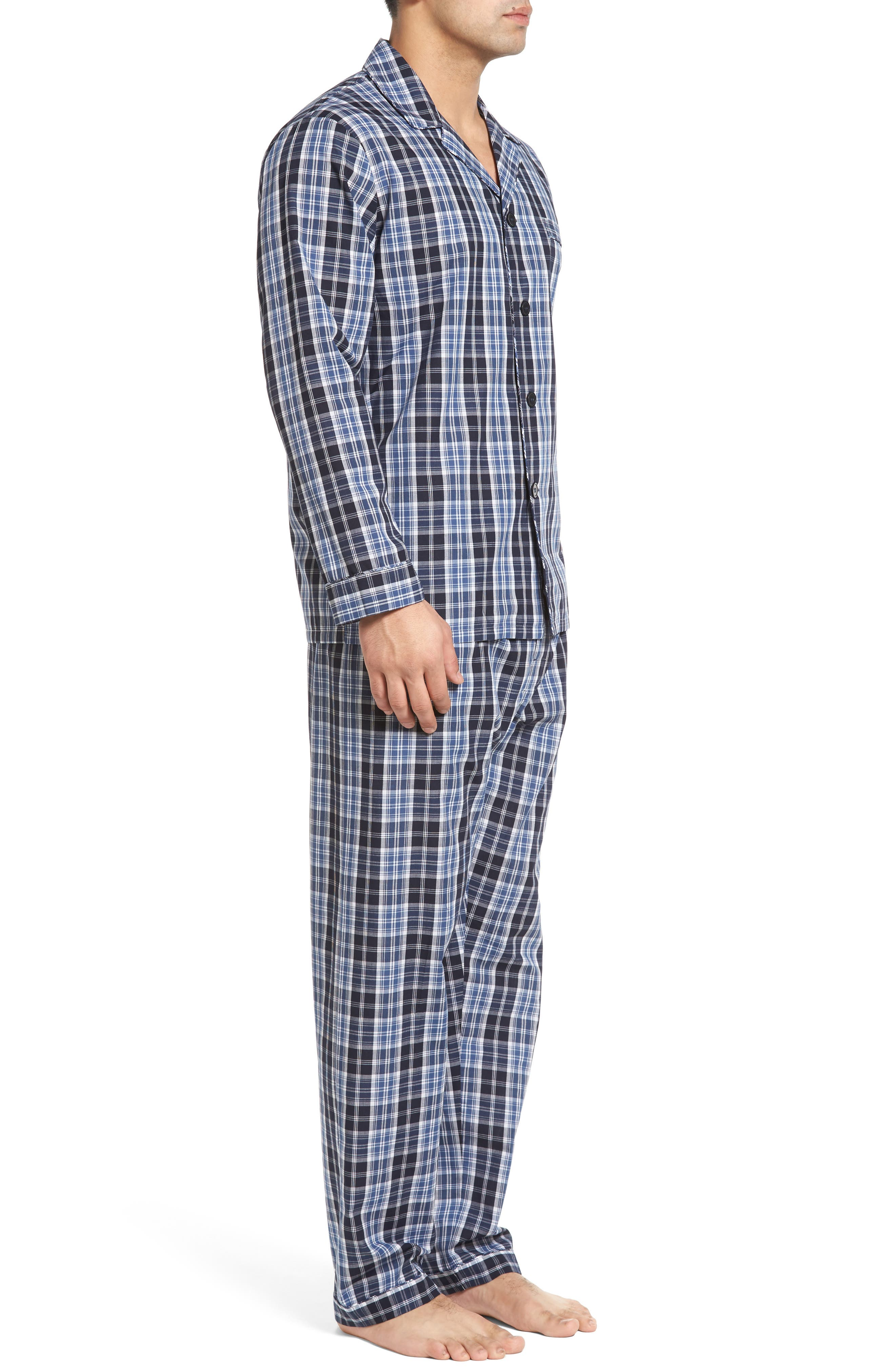 'Ryden' Cotton Blend Pajamas,                             Alternate thumbnail 3, color,                             001