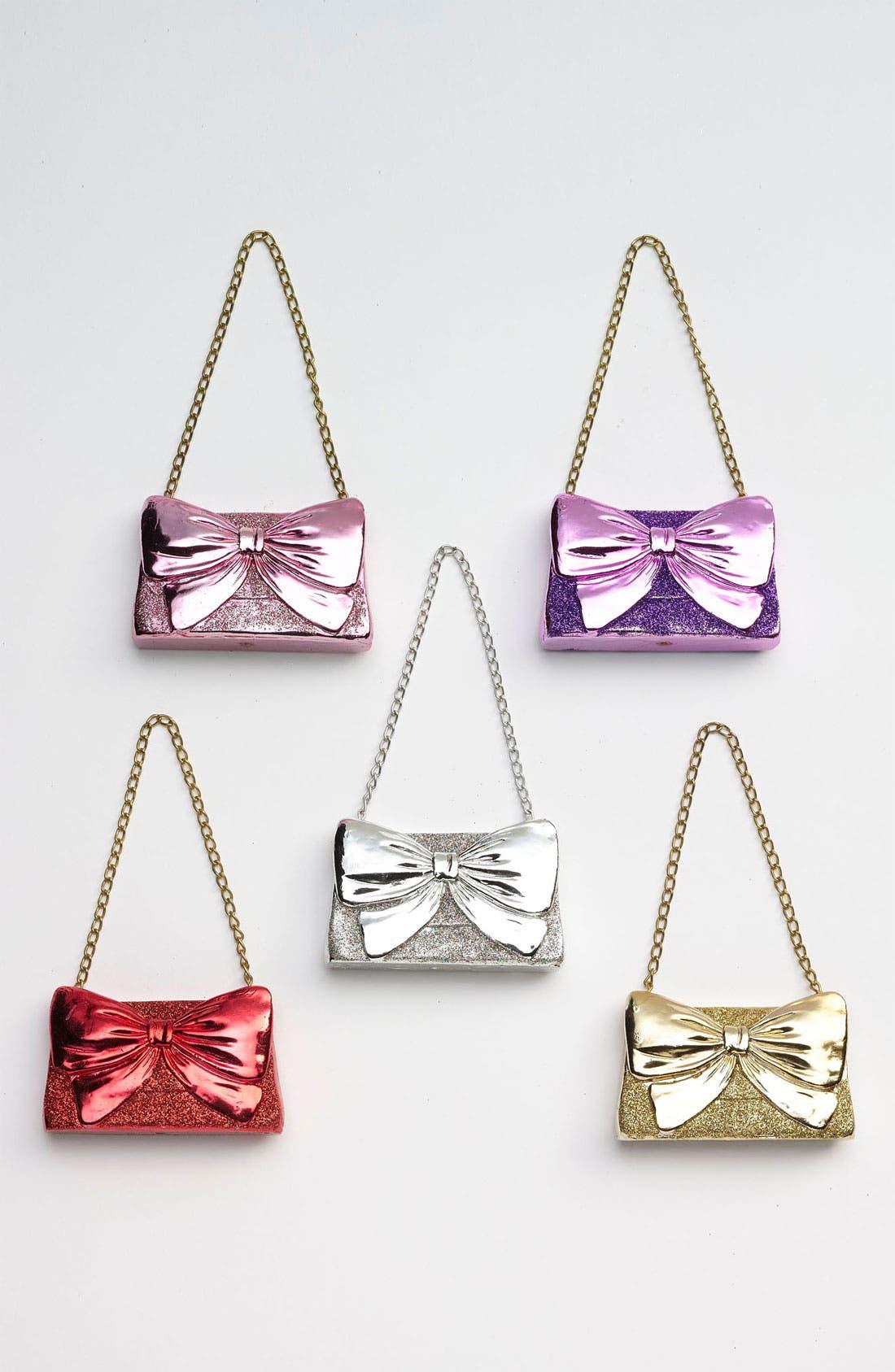 'Glitter Bow Clutch' Ornament, Main, color, 040