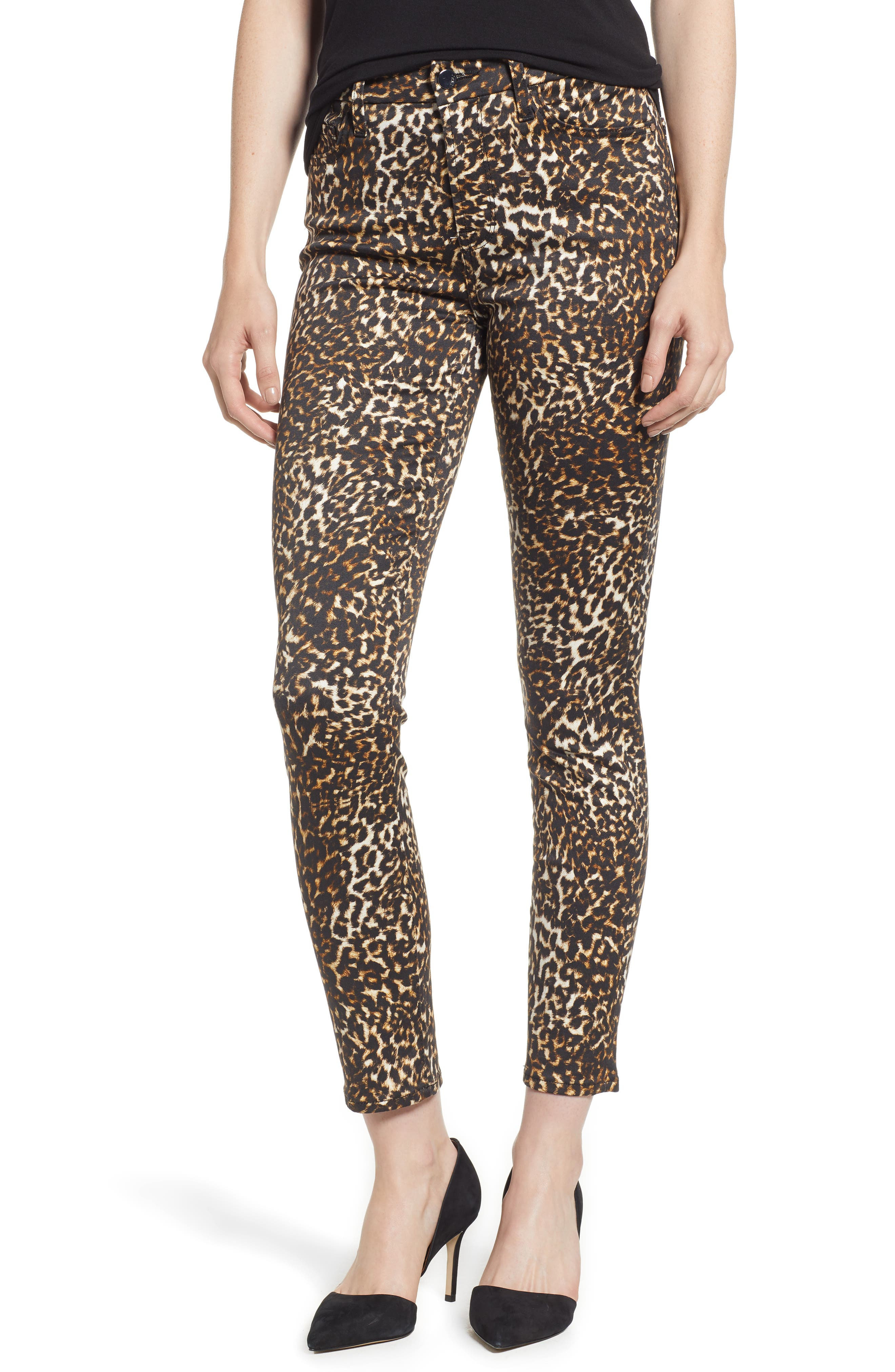 JEN7 BY 7 FOR ALL MANKIND Leopard-Print Skinny Ankle Jeans in Shaded Cheetah