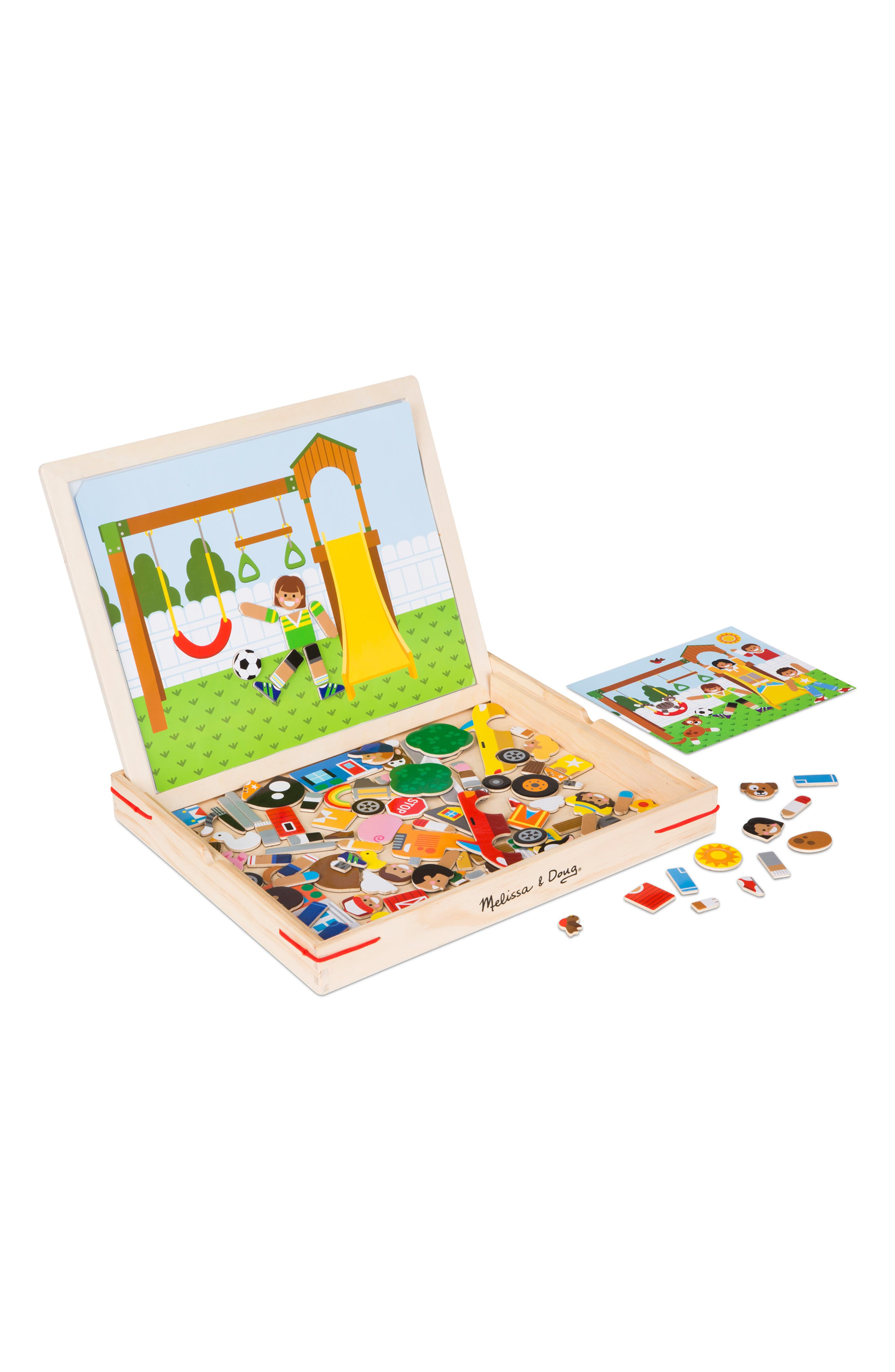 MELISSA & DOUG,                             Wooden Magnetic Matching Picture Game Play Set,                             Alternate thumbnail 2, color,                             960