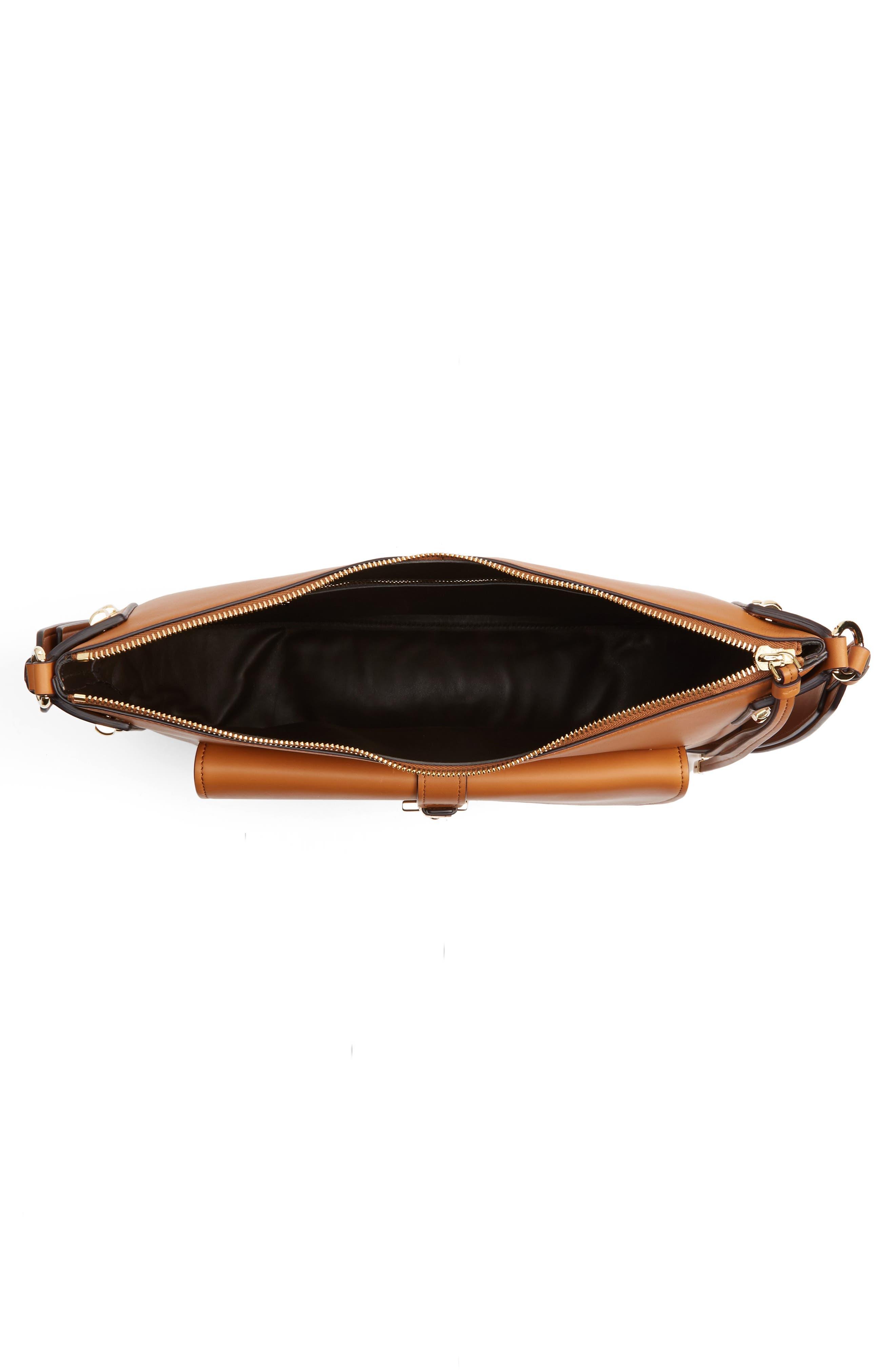 Calfskin Leather Hobo,                             Alternate thumbnail 4, color,                             241