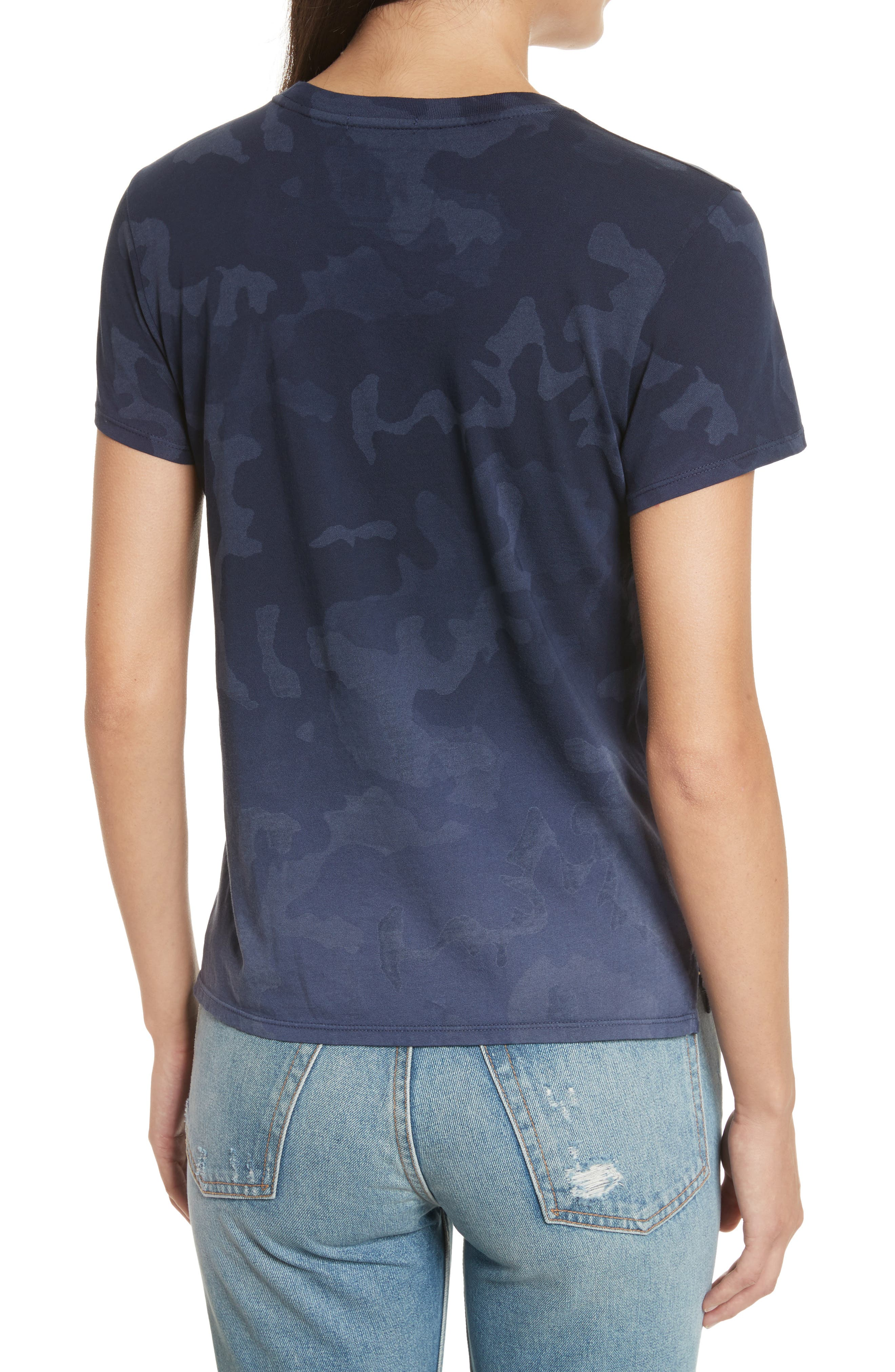 Camouflage Print Cotton Tee,                             Alternate thumbnail 4, color,