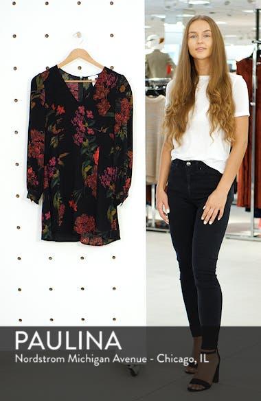 V-Neck Floral Print Minidress, sales video thumbnail