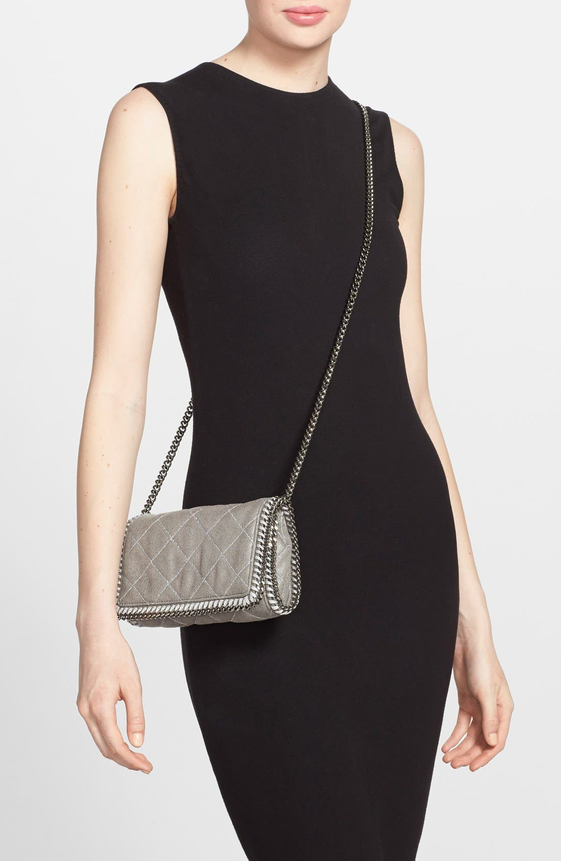 'Falabella' Quilted Faux Leather Crossbody Bag,                             Alternate thumbnail 19, color,