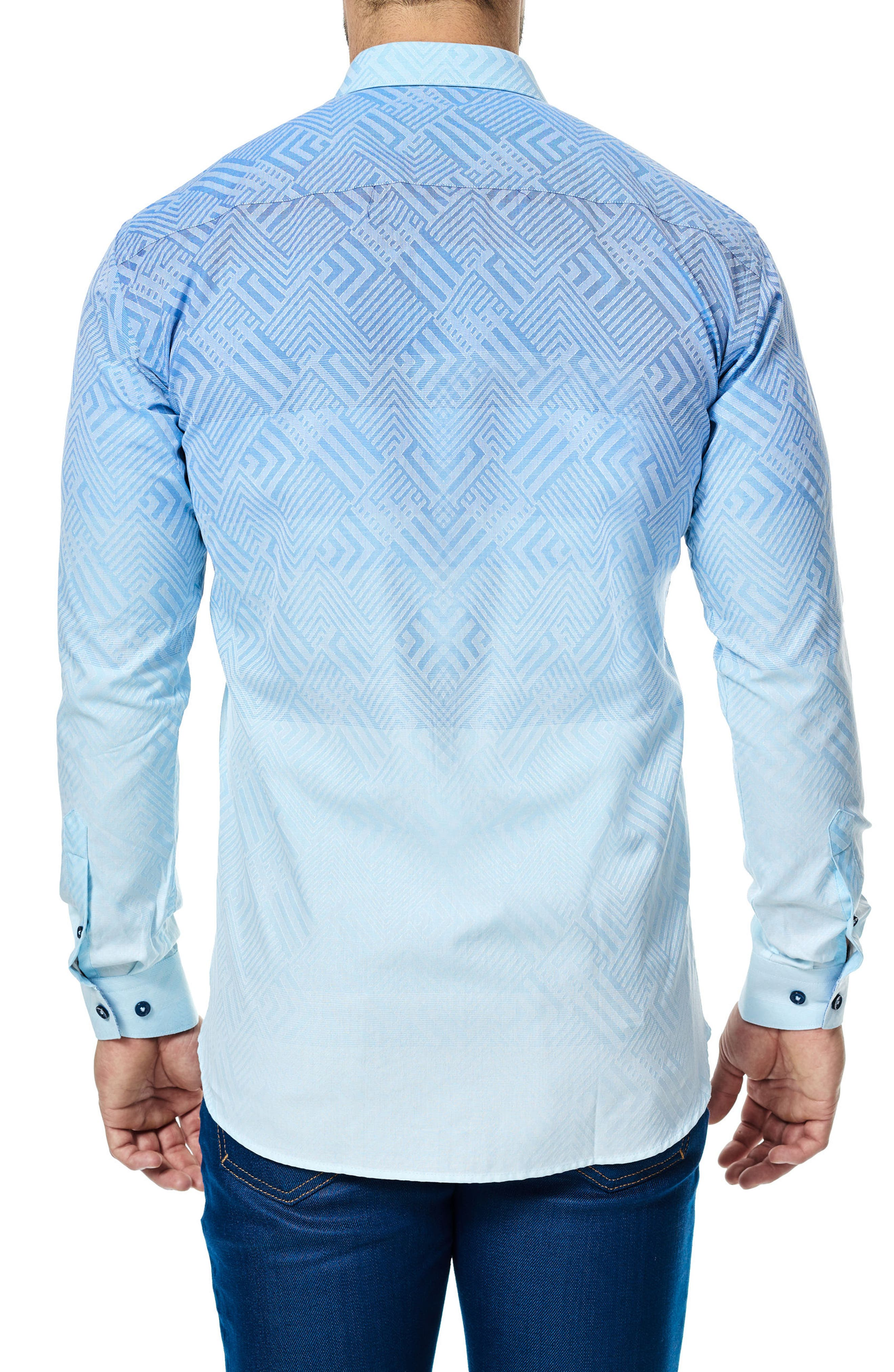 Luxor Ombré Geo Sport Shirt,                             Alternate thumbnail 2, color,                             422