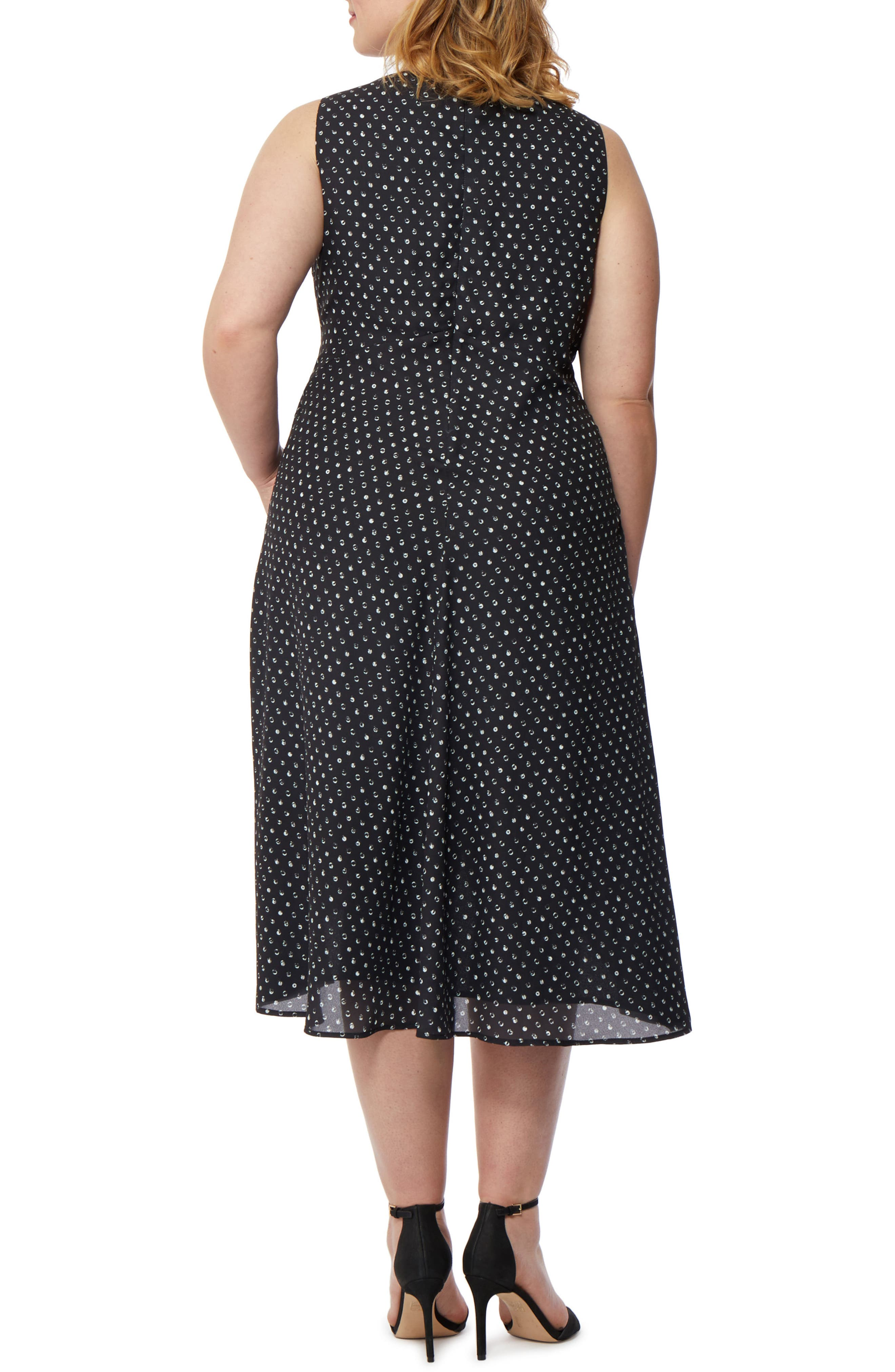 Print High/Low Dress,                             Alternate thumbnail 2, color,                             MINI POLKA DOT