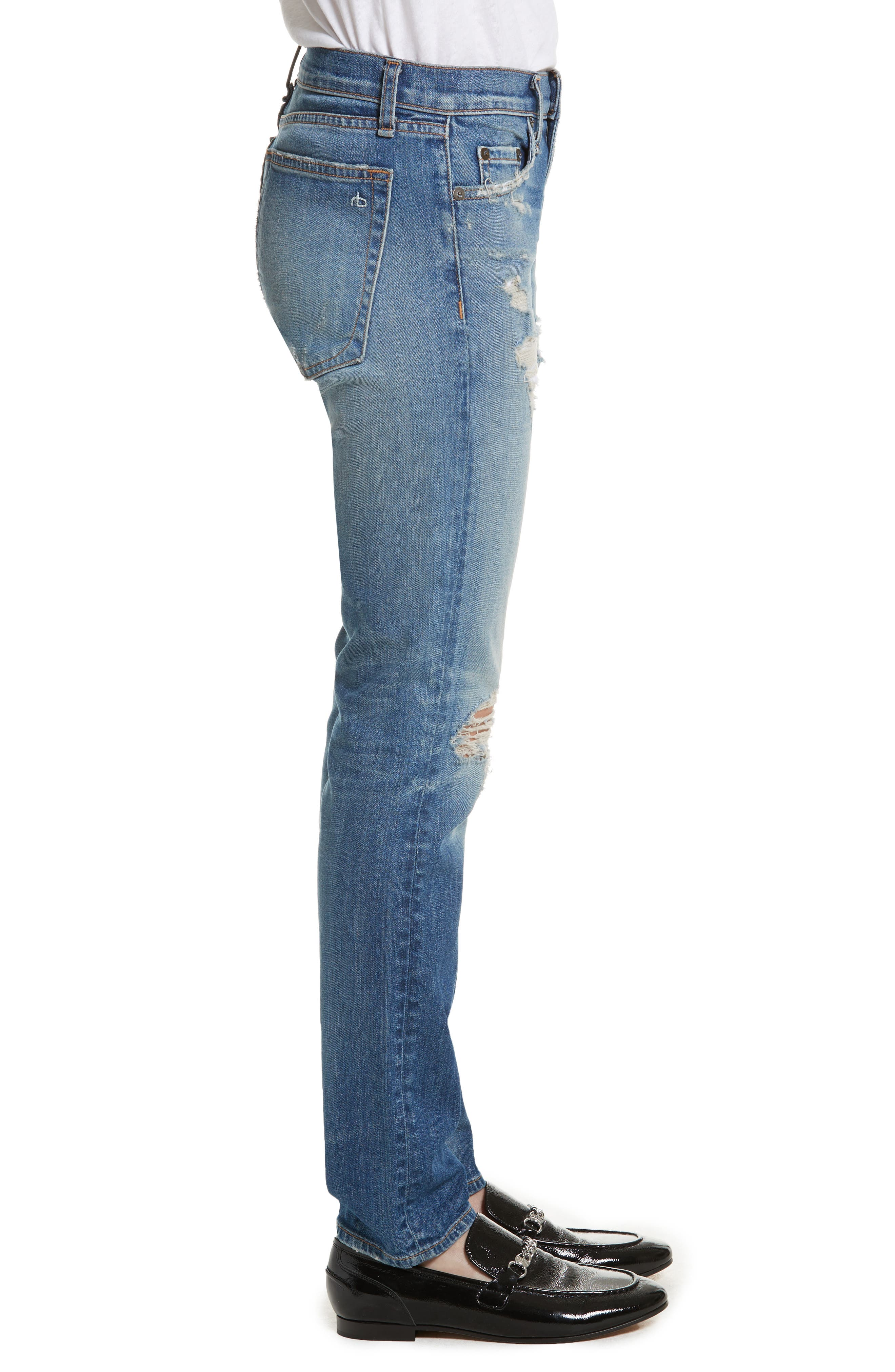 Dre Slim Boyfriend Jeans,                             Alternate thumbnail 3, color,                             420