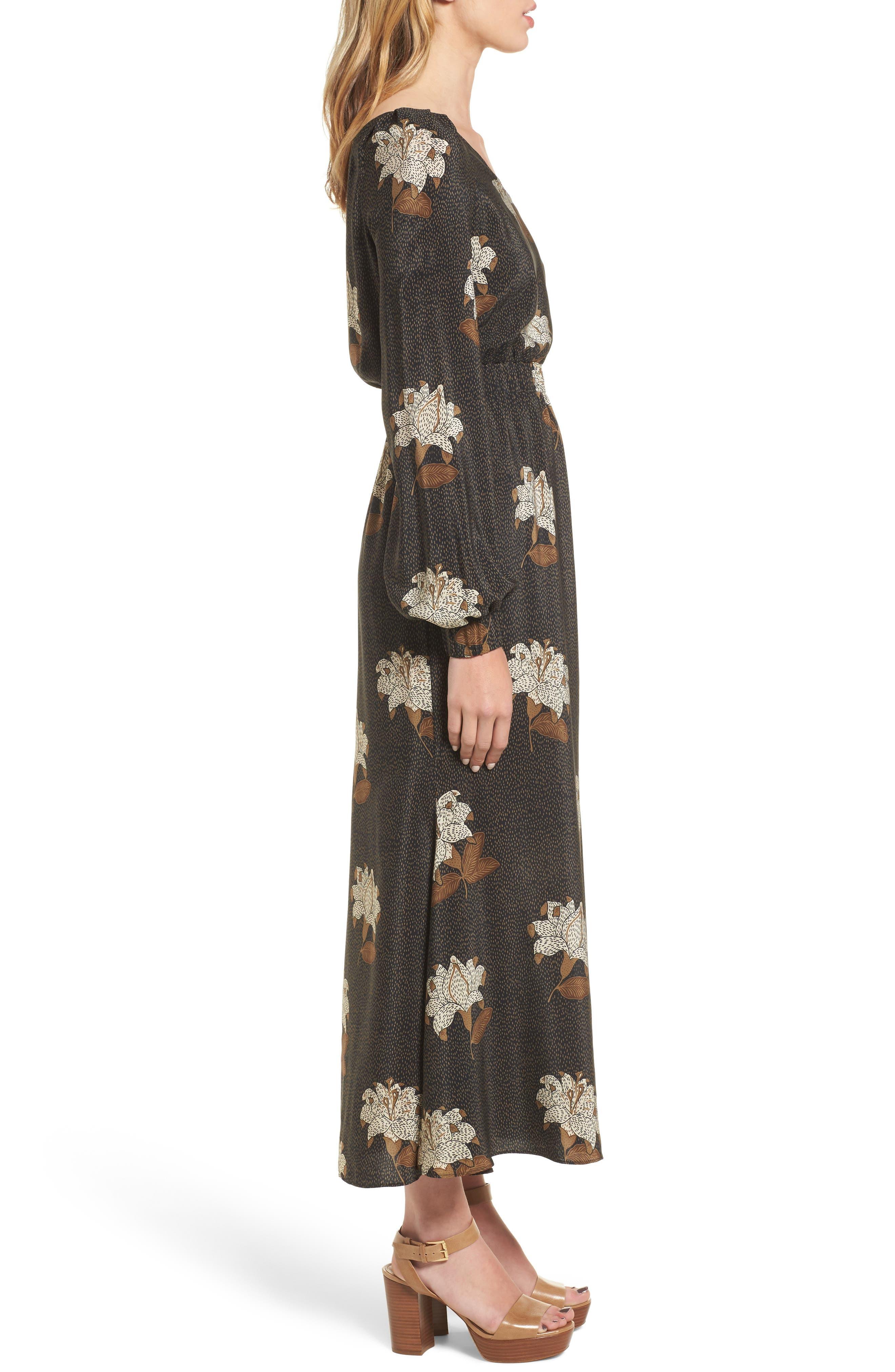 Johnny One-Shoulder Silk Dress,                             Alternate thumbnail 3, color,                             001