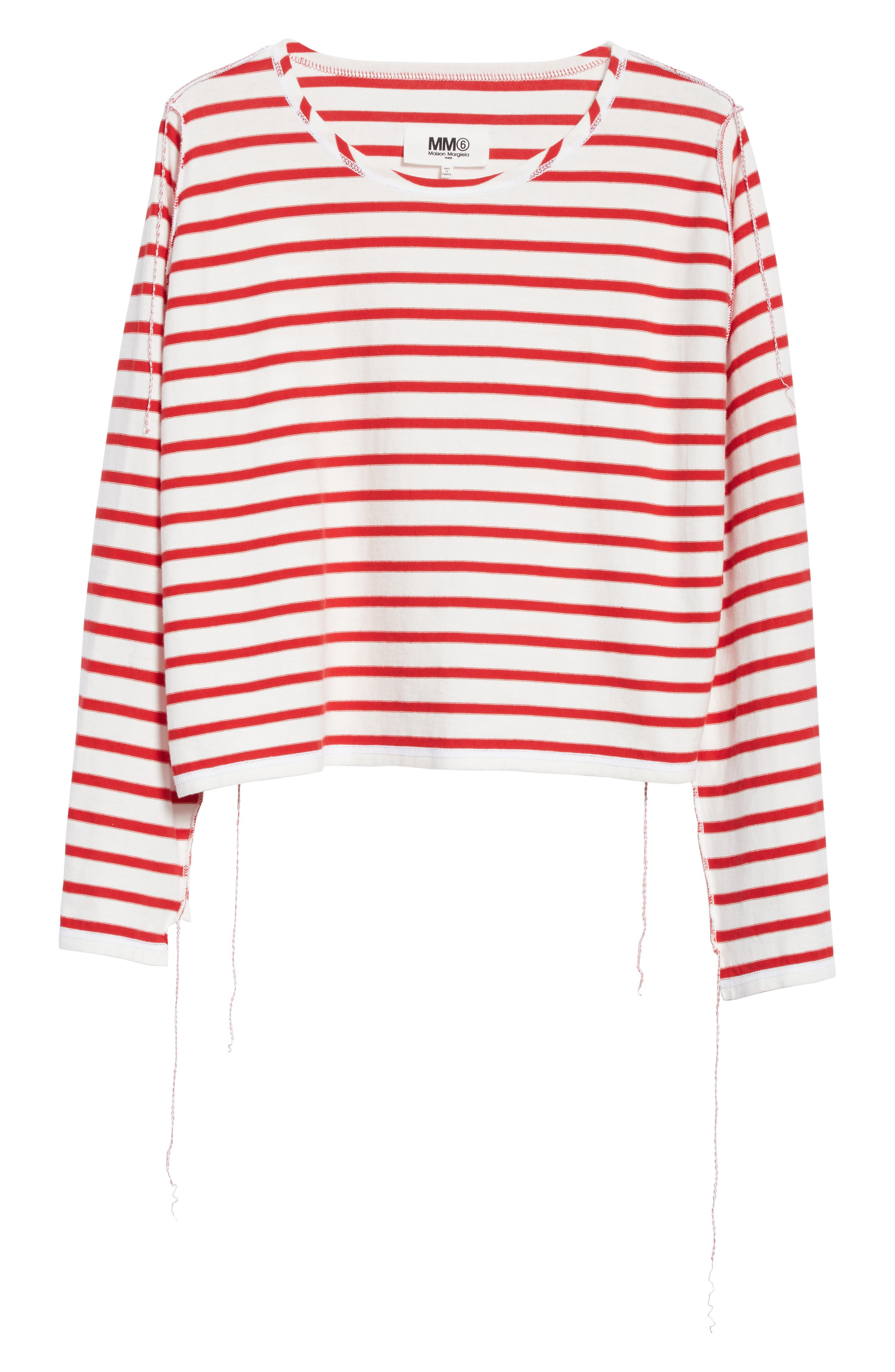 Inside Out Stripe Sweater,                             Alternate thumbnail 6, color,                             600