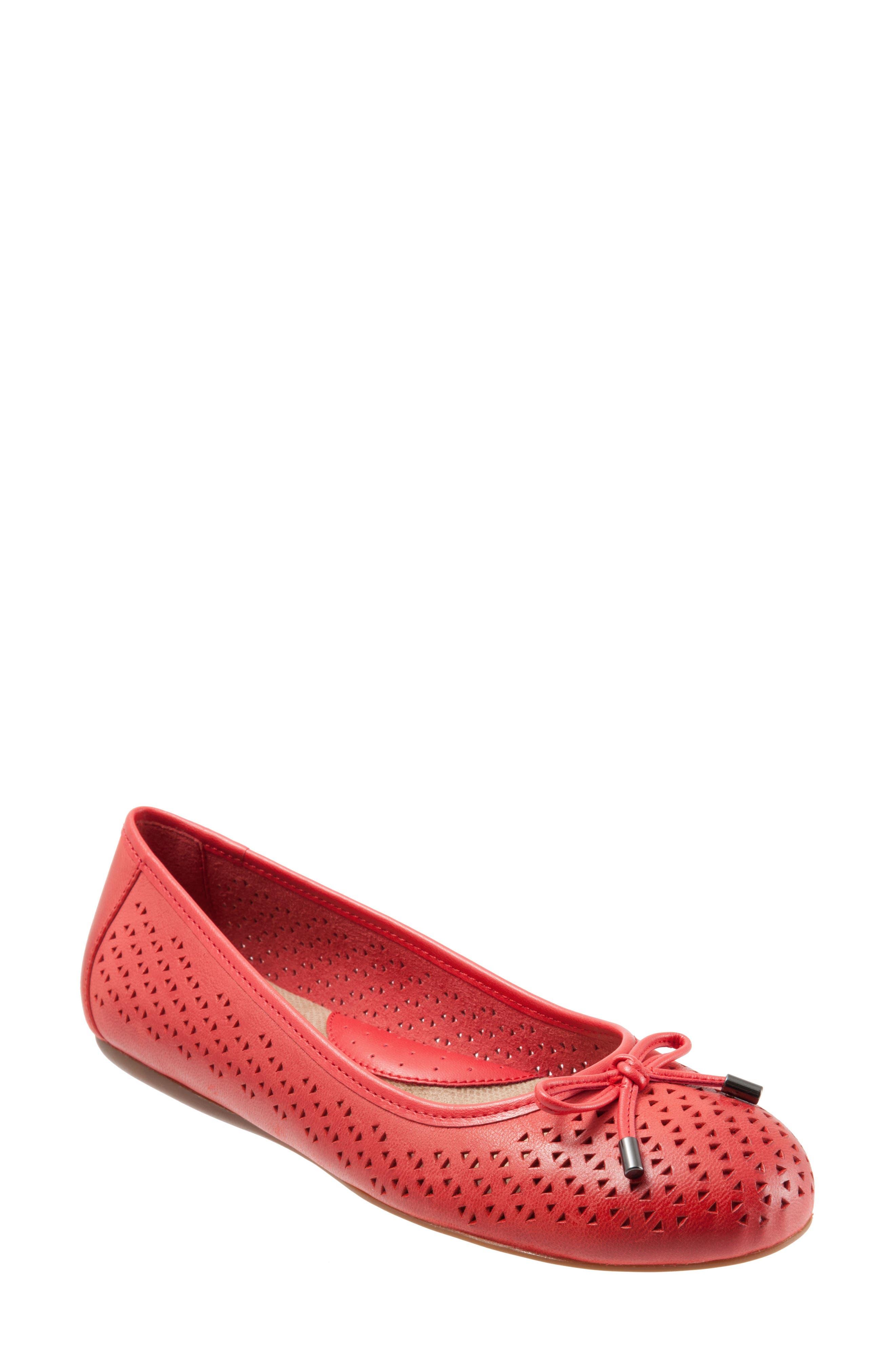 Softwalk Napa Flat, Red