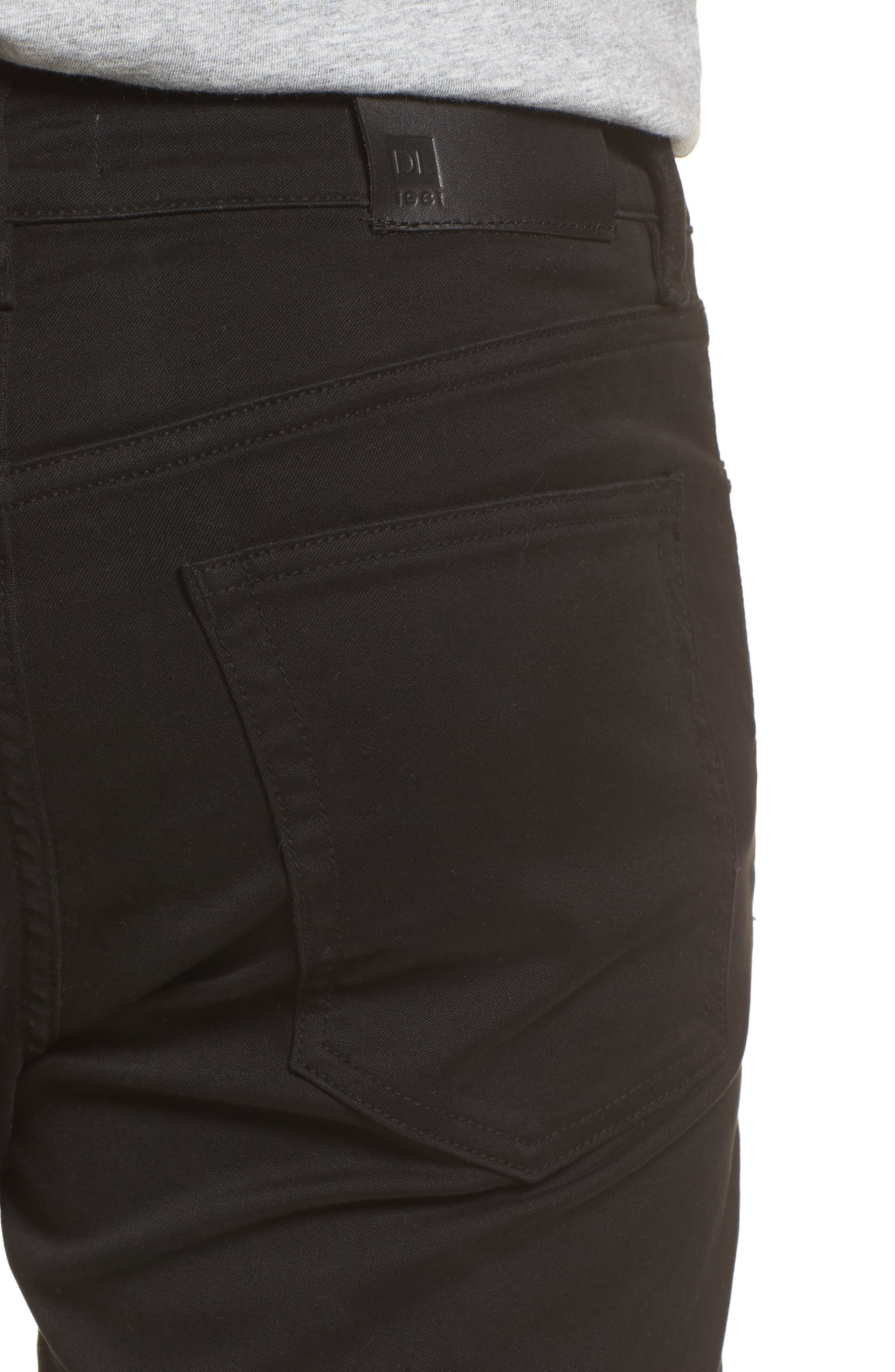 Avery Slim Straight Chino Pants,                             Alternate thumbnail 4, color,                             COAL