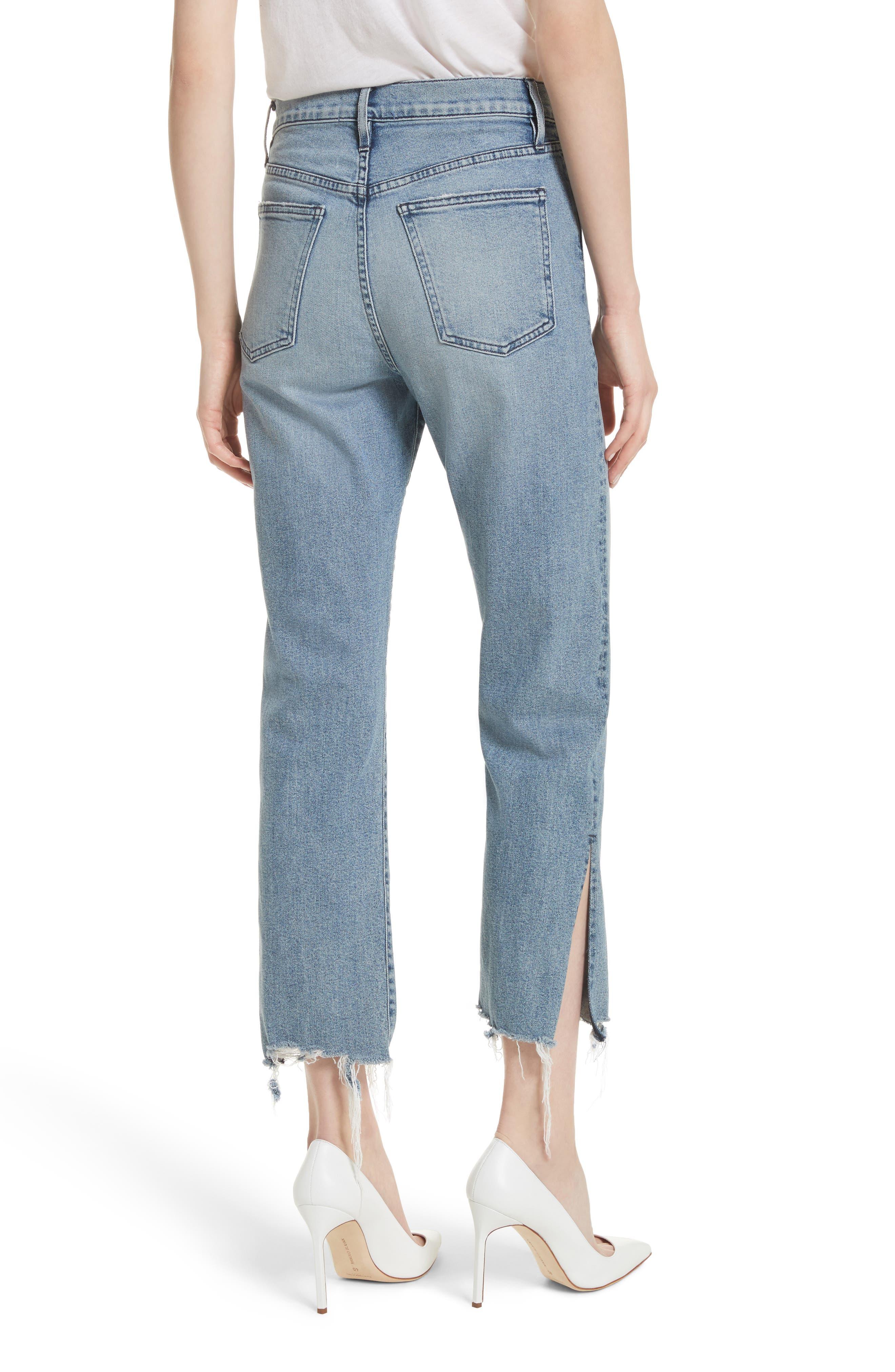 W3 Higher Ground Side Split Ankle Straight Leg Jeans,                             Alternate thumbnail 2, color,                             428
