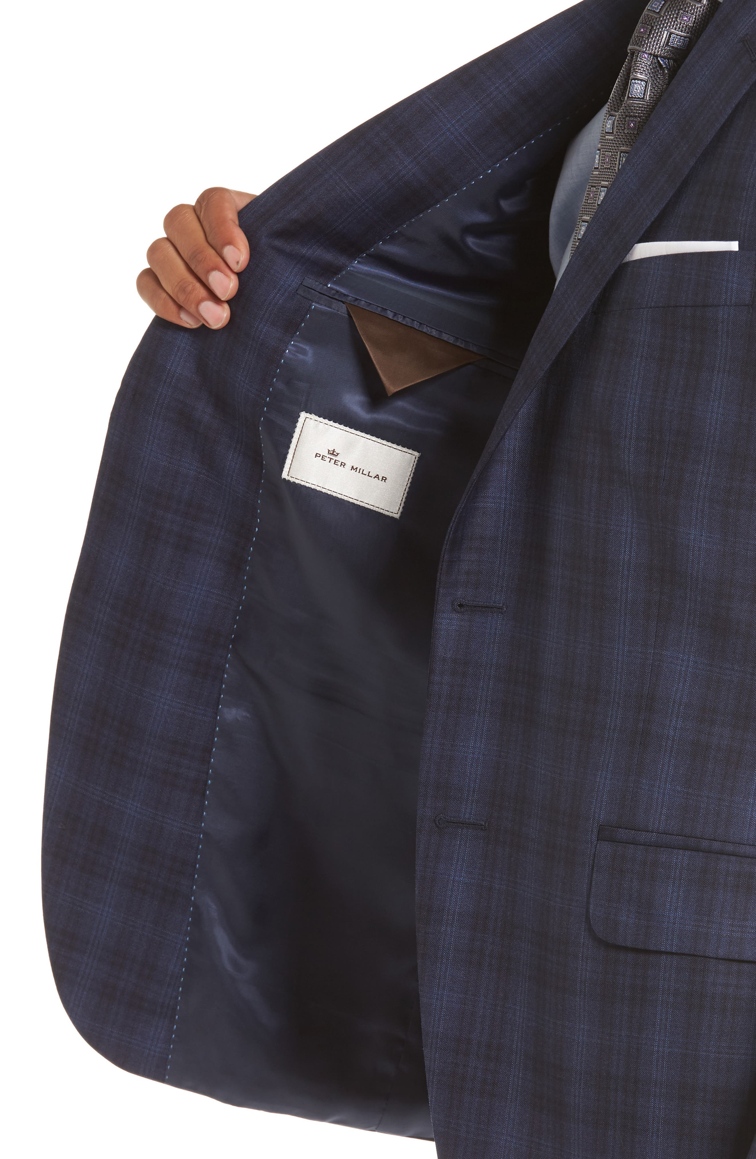 Flynn Classic Fit Plaid Wool Sport Coat,                             Alternate thumbnail 4, color,