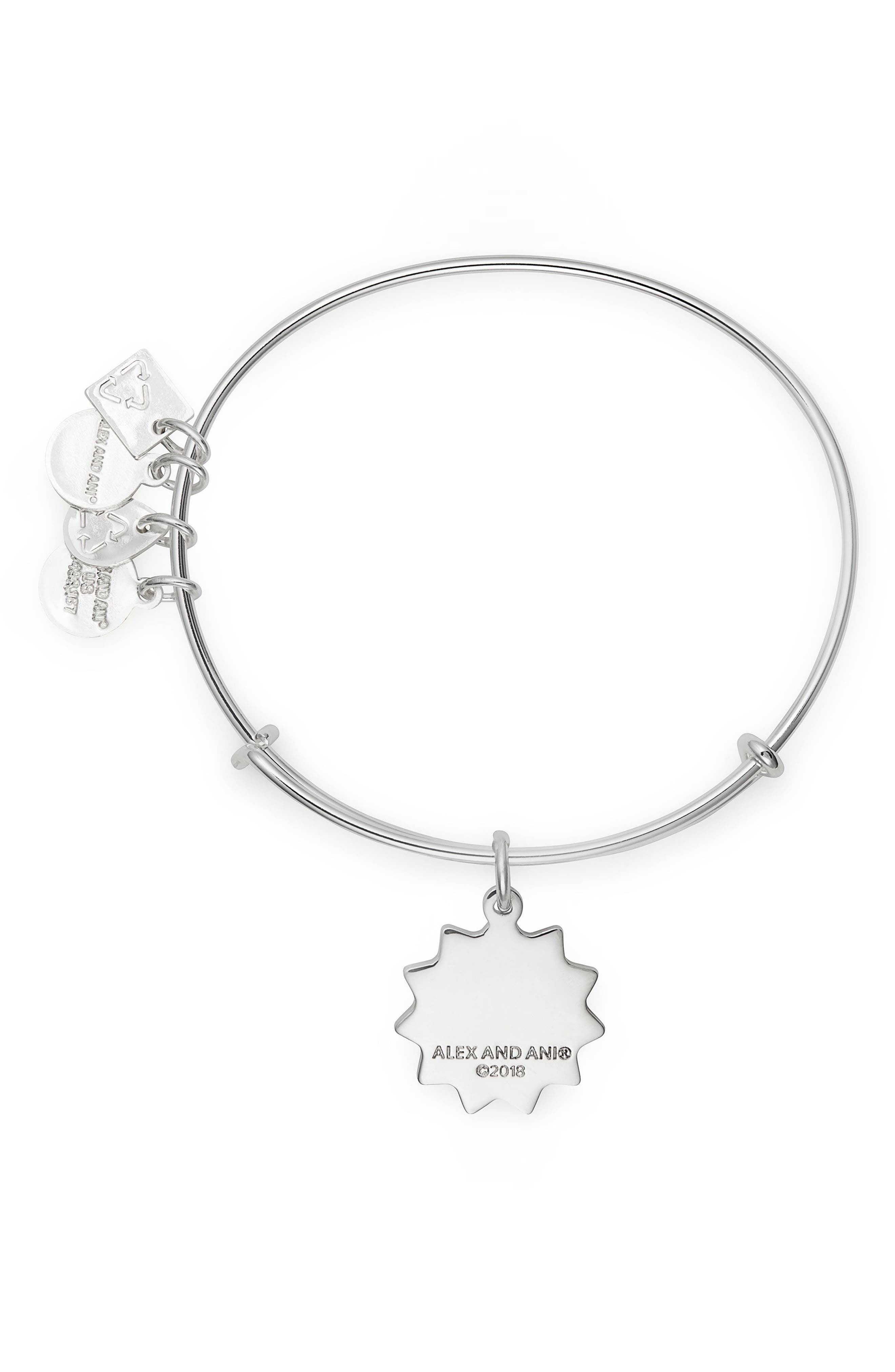 Charity by Design You Are My Sunshine Charm Bracelet,                             Alternate thumbnail 2, color,                             SILVER