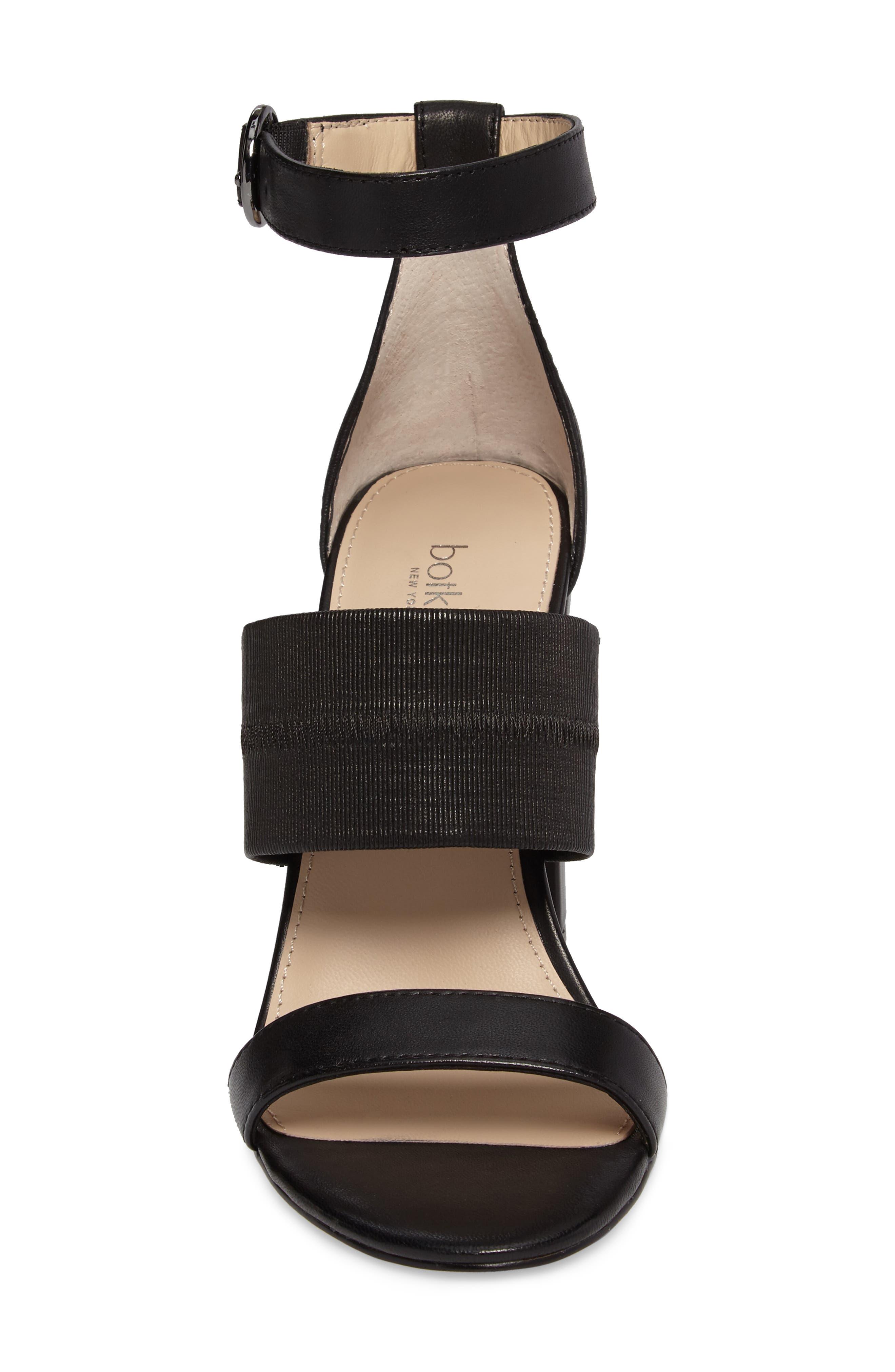 Gisella Ankle Strap Sandal,                             Alternate thumbnail 4, color,                             001