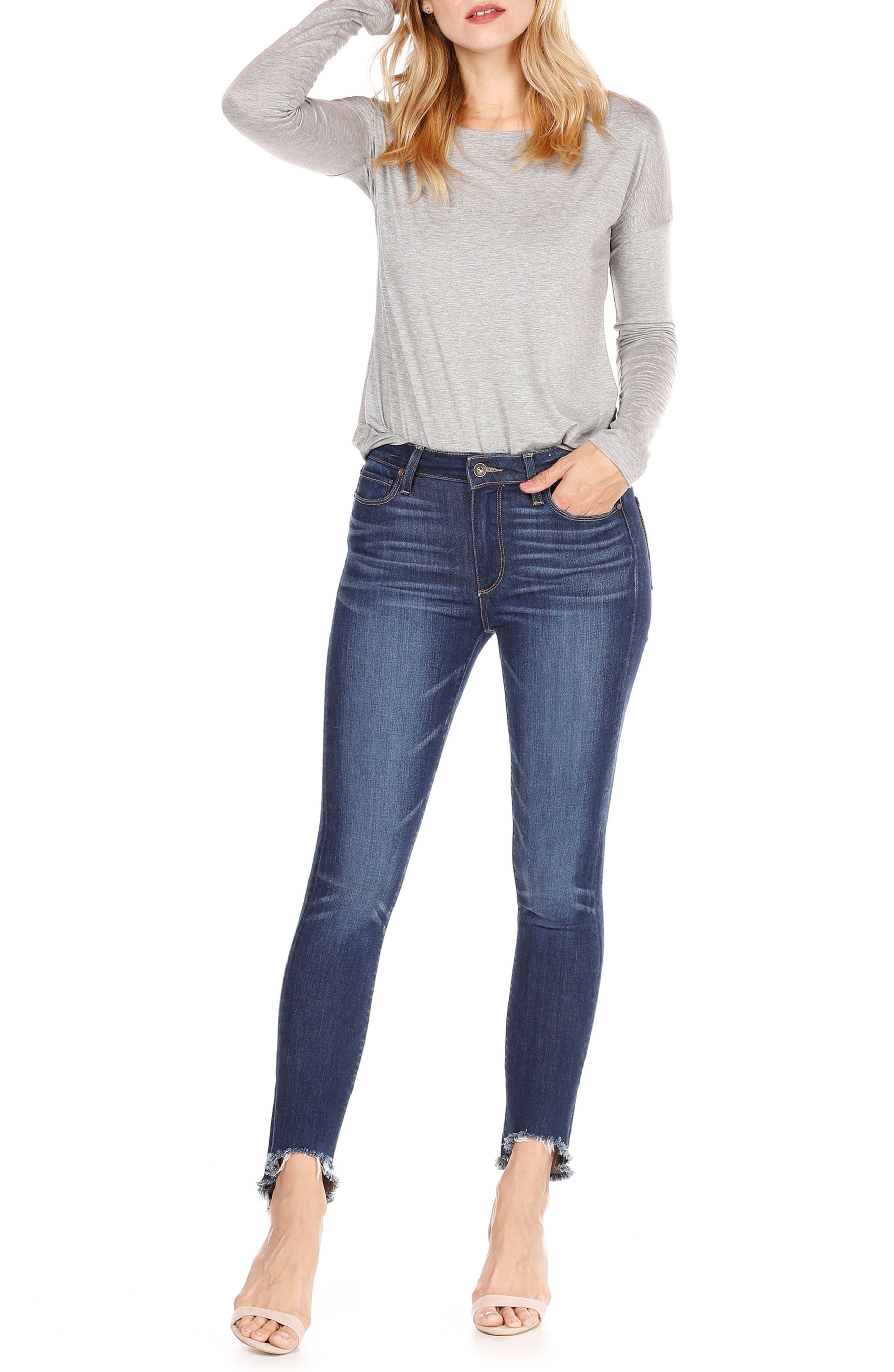 Transcend Vintage - Hoxton High Waist Ankle Skinny Jeans,                             Alternate thumbnail 7, color,