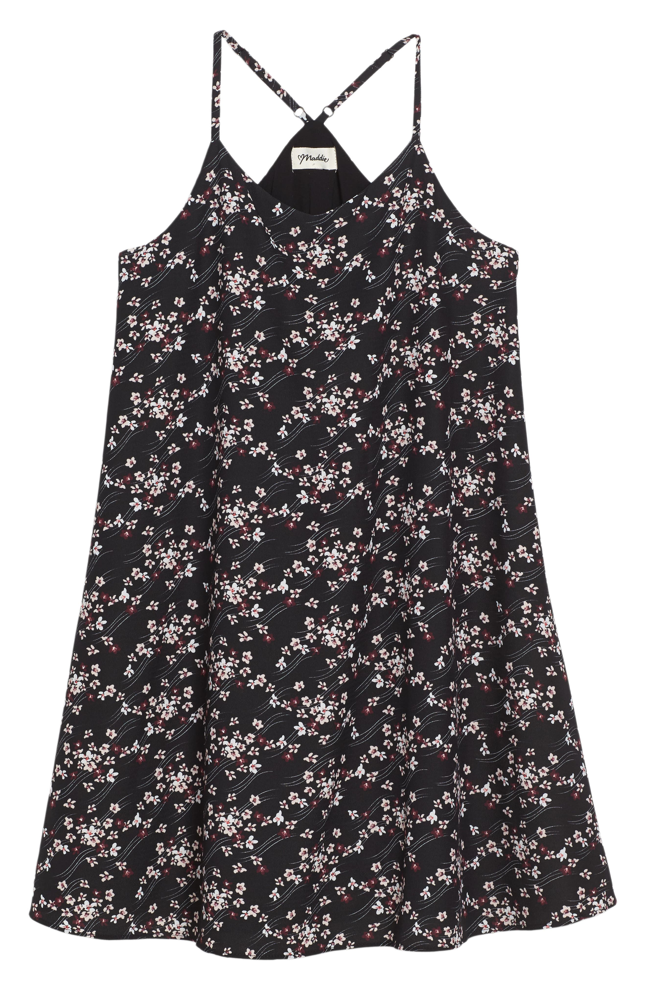 Floral Print Slip Dress,                         Main,                         color, 002