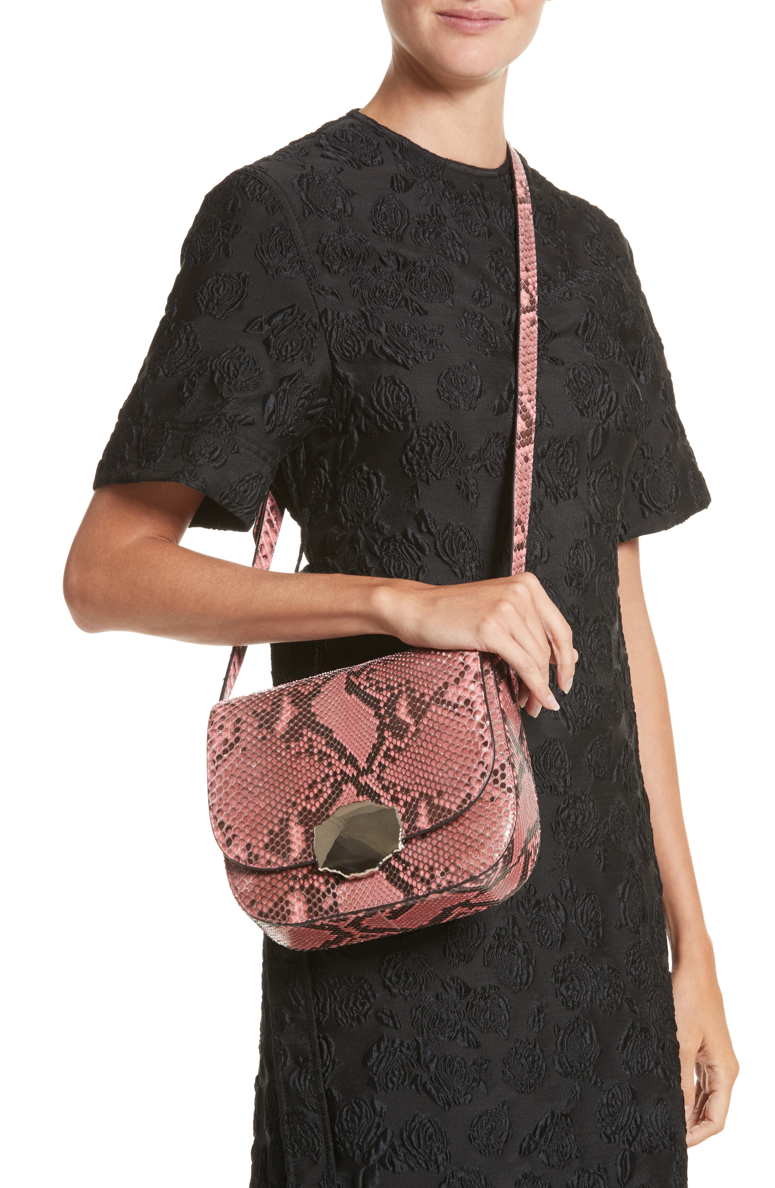 Calvin Klein 205W395NYC Genuine Python Shoulder Bag,                             Alternate thumbnail 2, color,