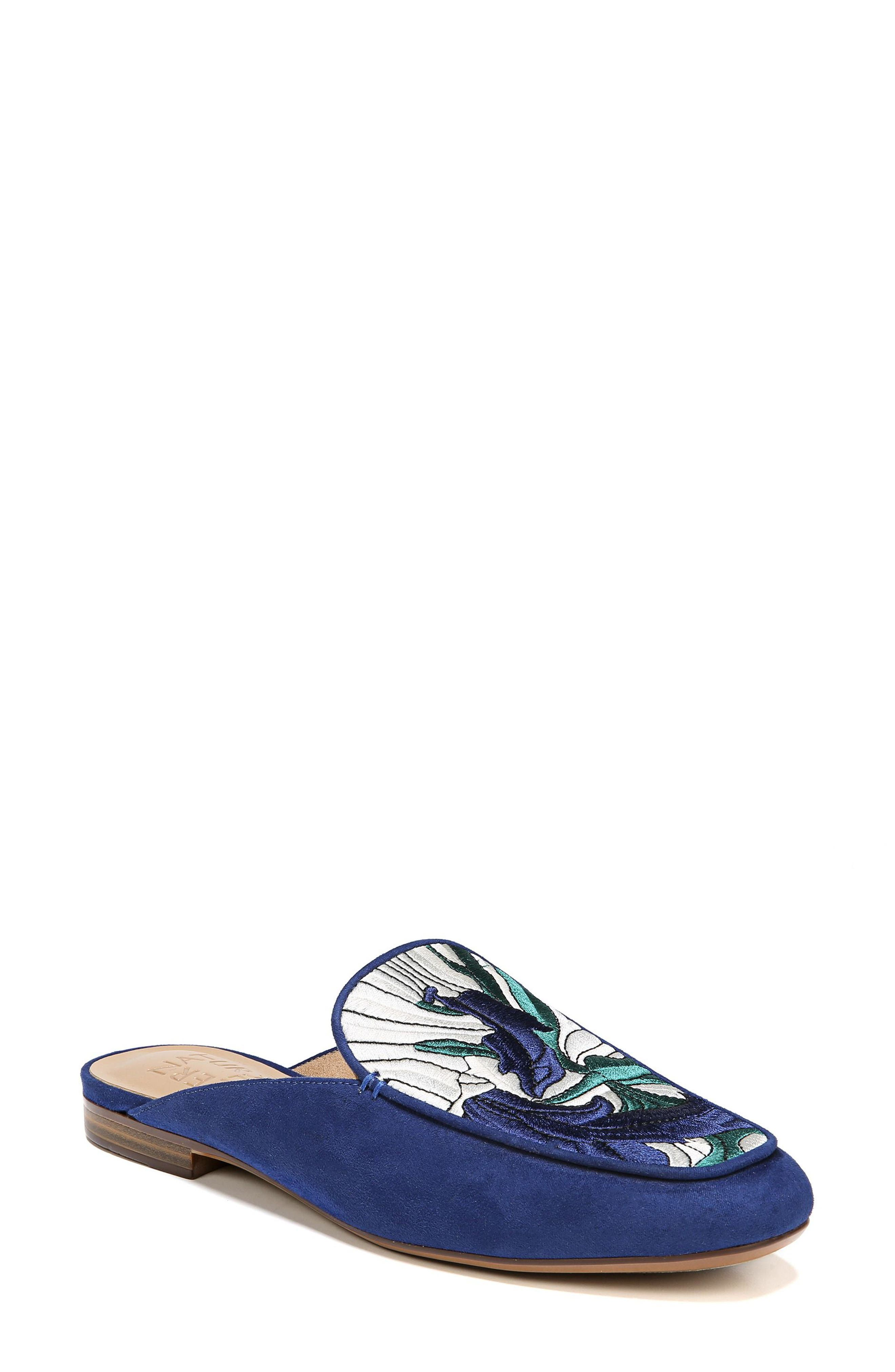 NATURALIZER Eden II Embroidered Mule, Main, color, SAPPHIRE FABRIC