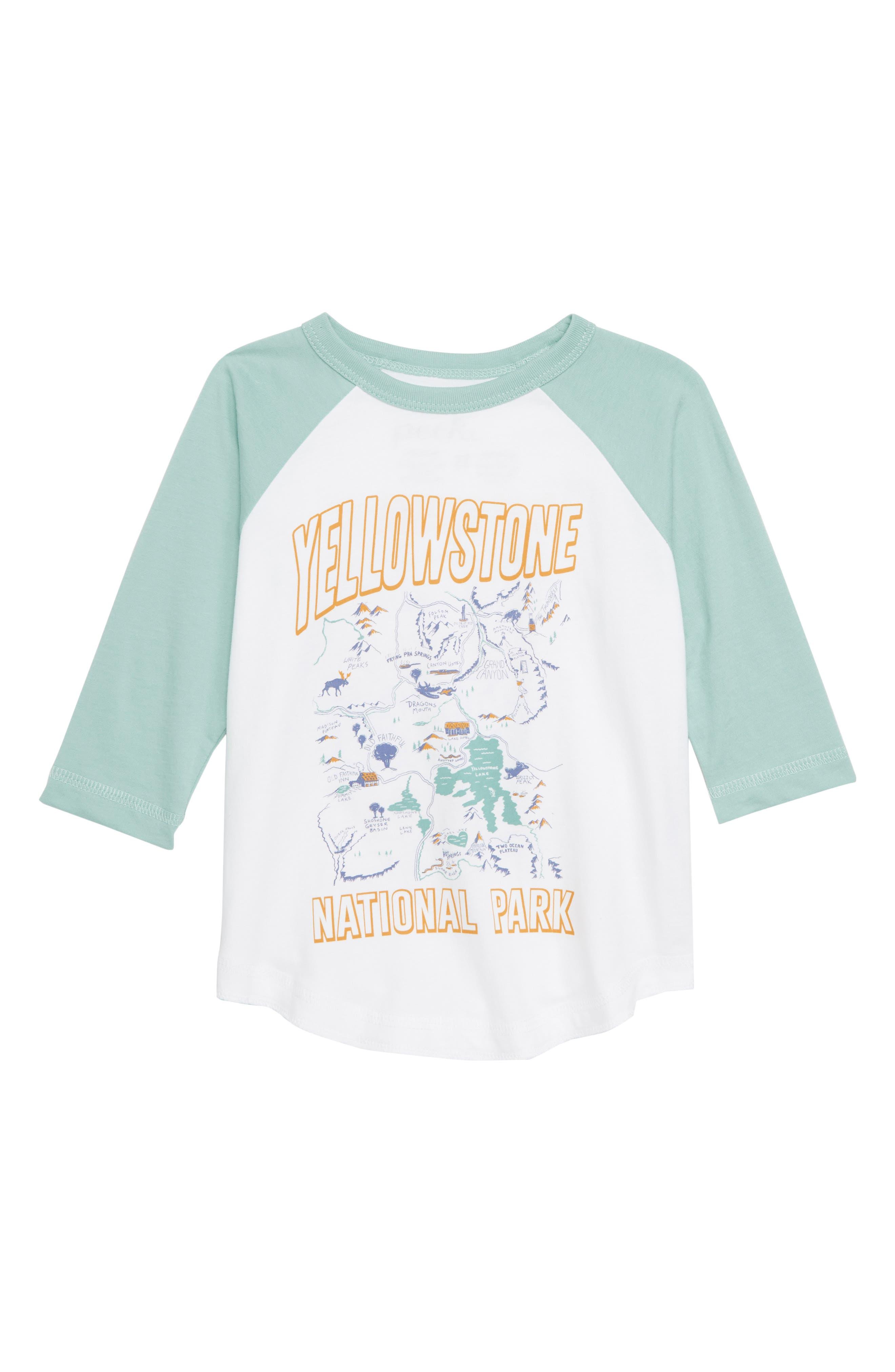 Yellowstone National Park Graphic T-Shirt,                             Main thumbnail 1, color,                             WHITE