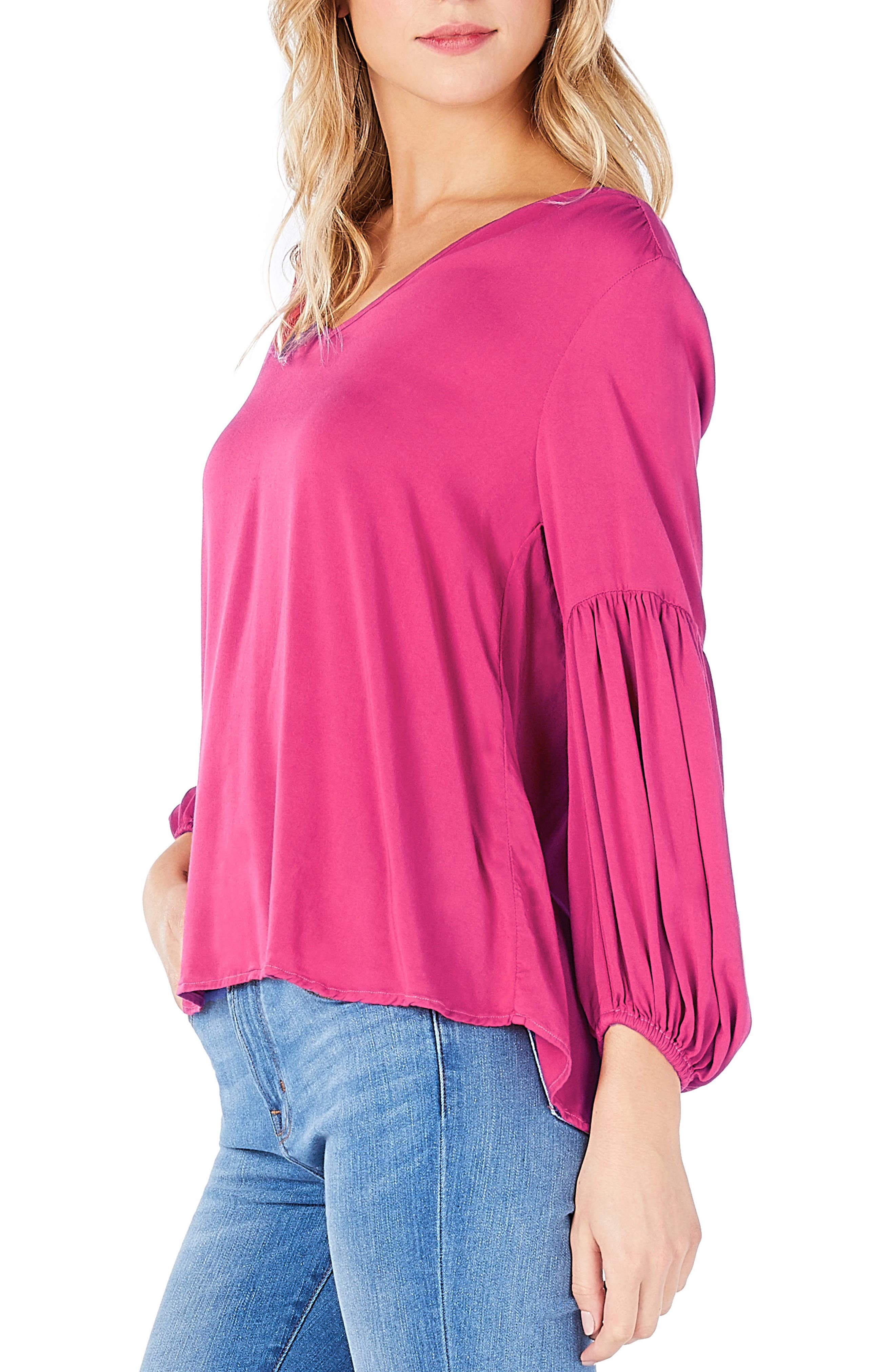 Peasant Blouse,                             Alternate thumbnail 4, color,
