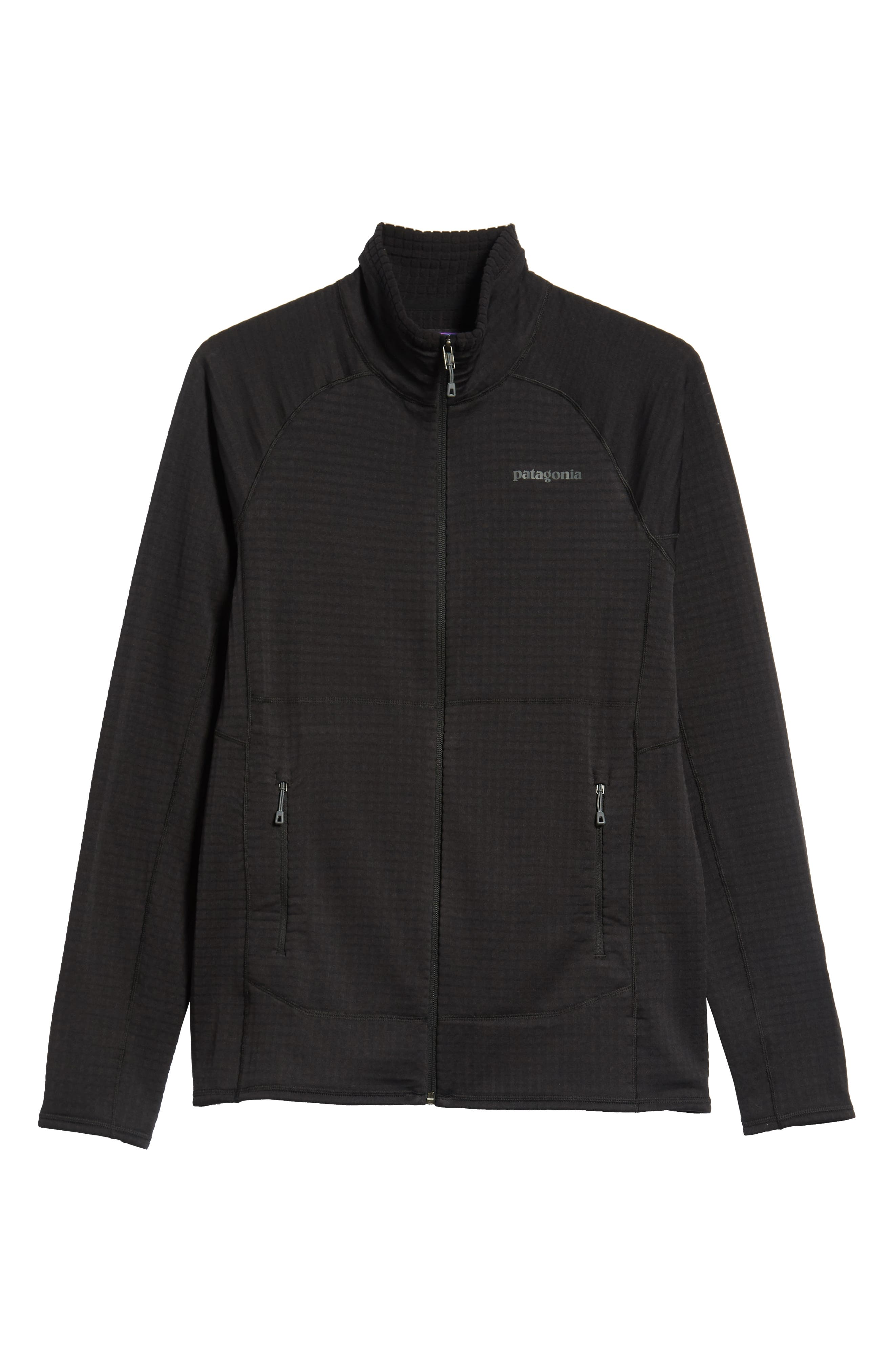 R1<sup>®</sup> Full Zip Jacket,                             Alternate thumbnail 6, color,                             BLACK