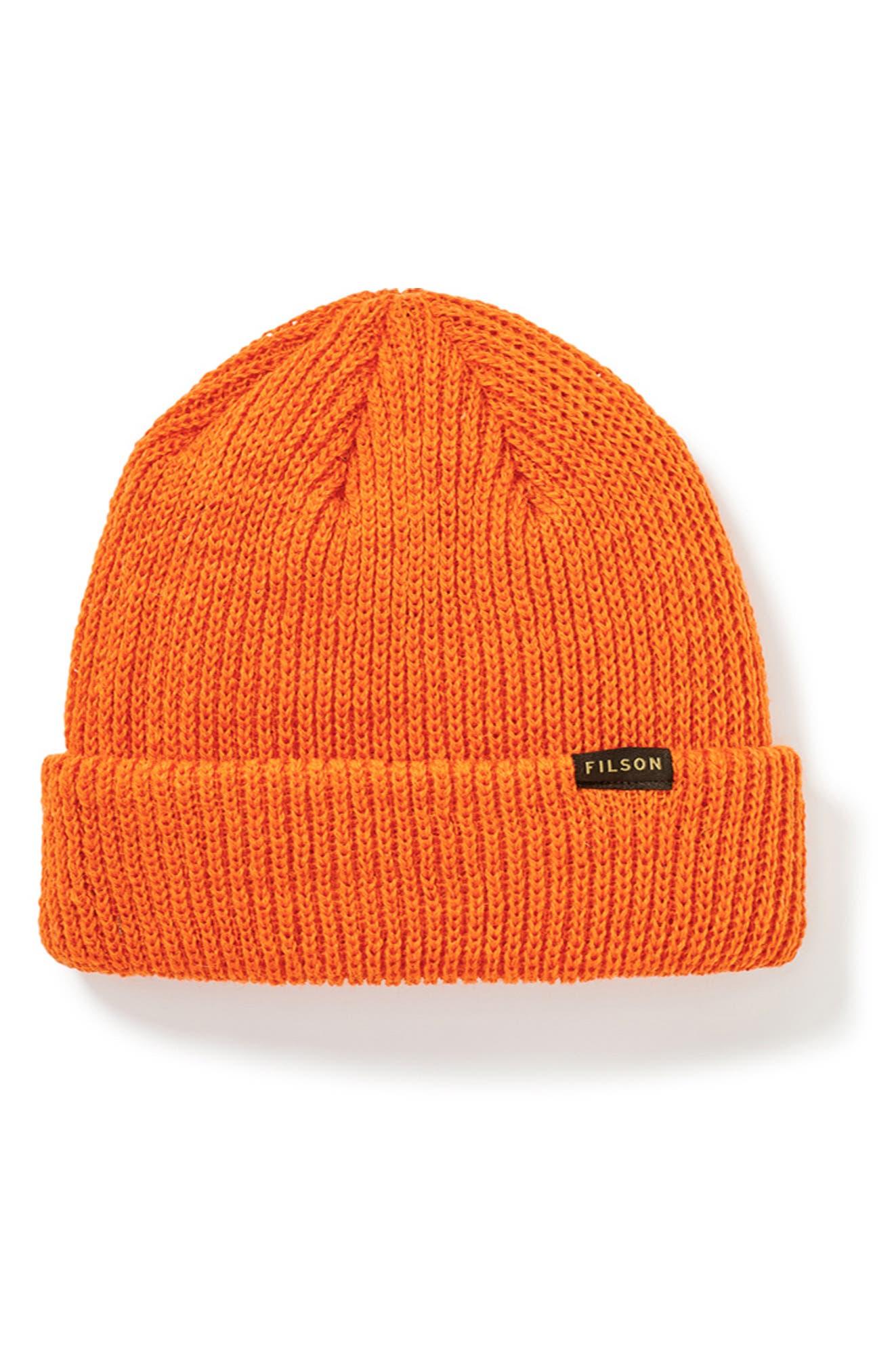 FILSON Wool Watch Cap - Orange in Flame