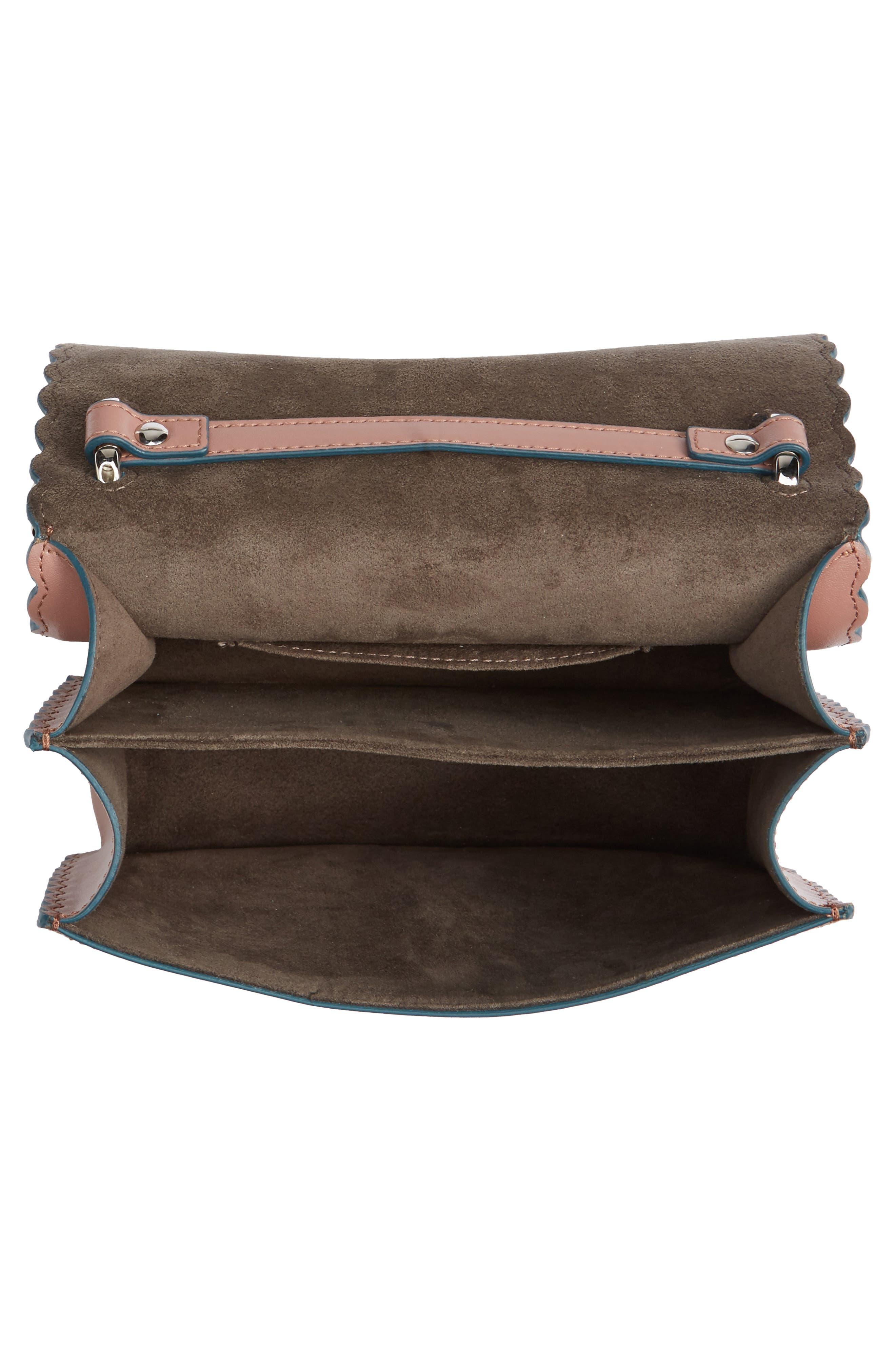 Small Kan I Scallop Leather Shoulder Bag,                             Alternate thumbnail 7, color,