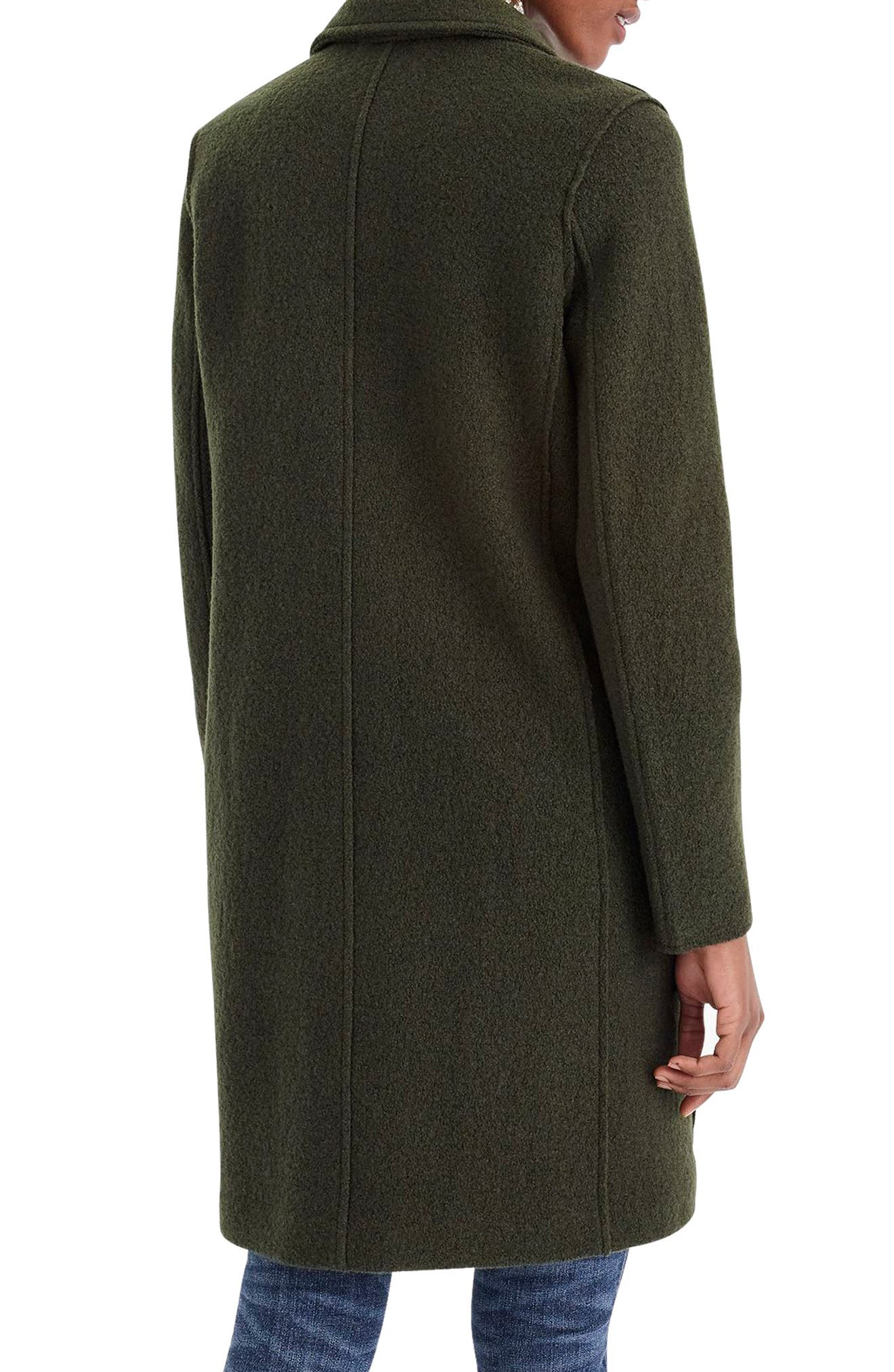 J.CREW,                             Daphne Boiled Wool Topcoat,                             Alternate thumbnail 2, color,                             301