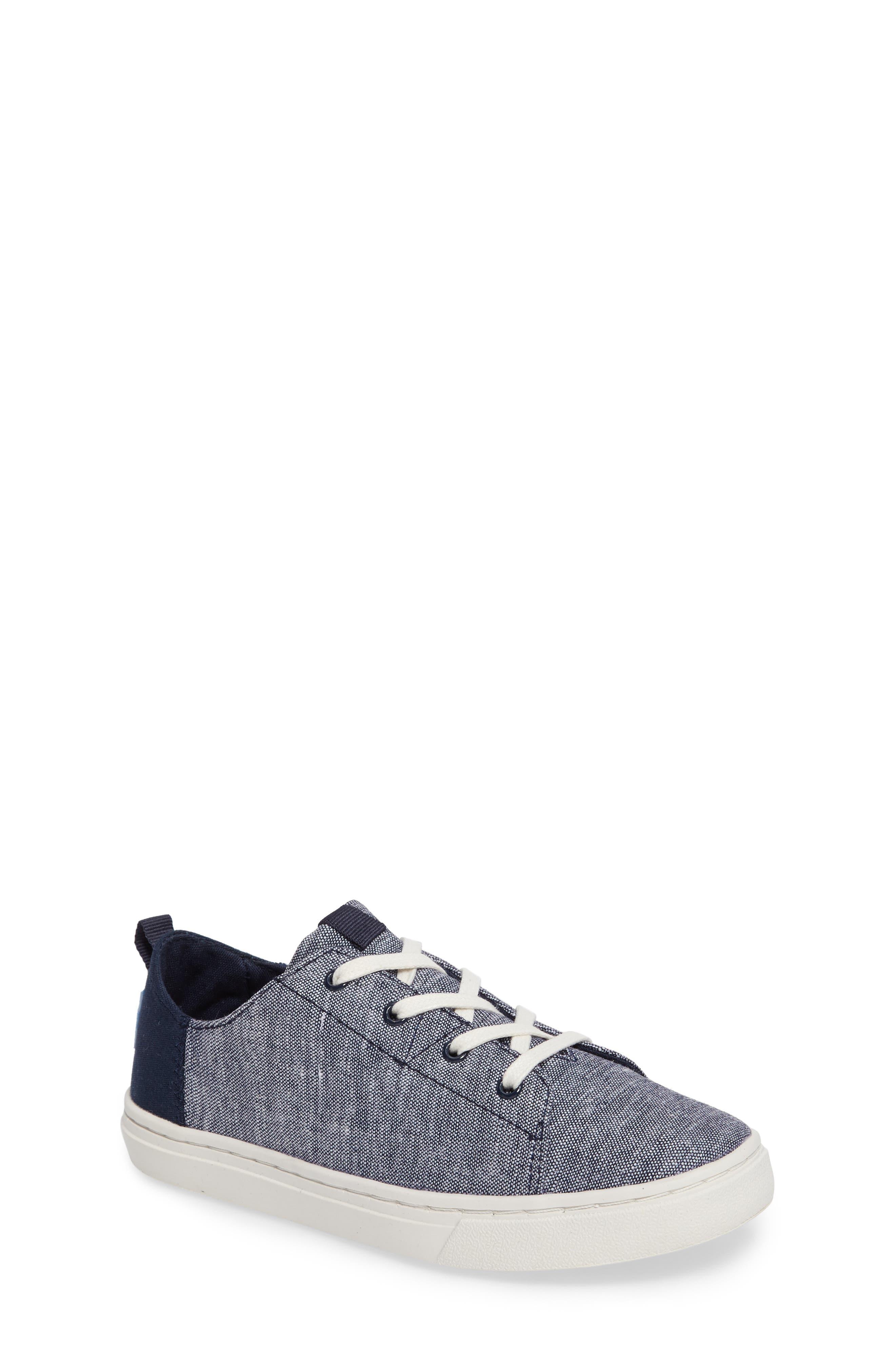 Lenny Sneaker,                         Main,                         color, NAVY CHAMBRAY